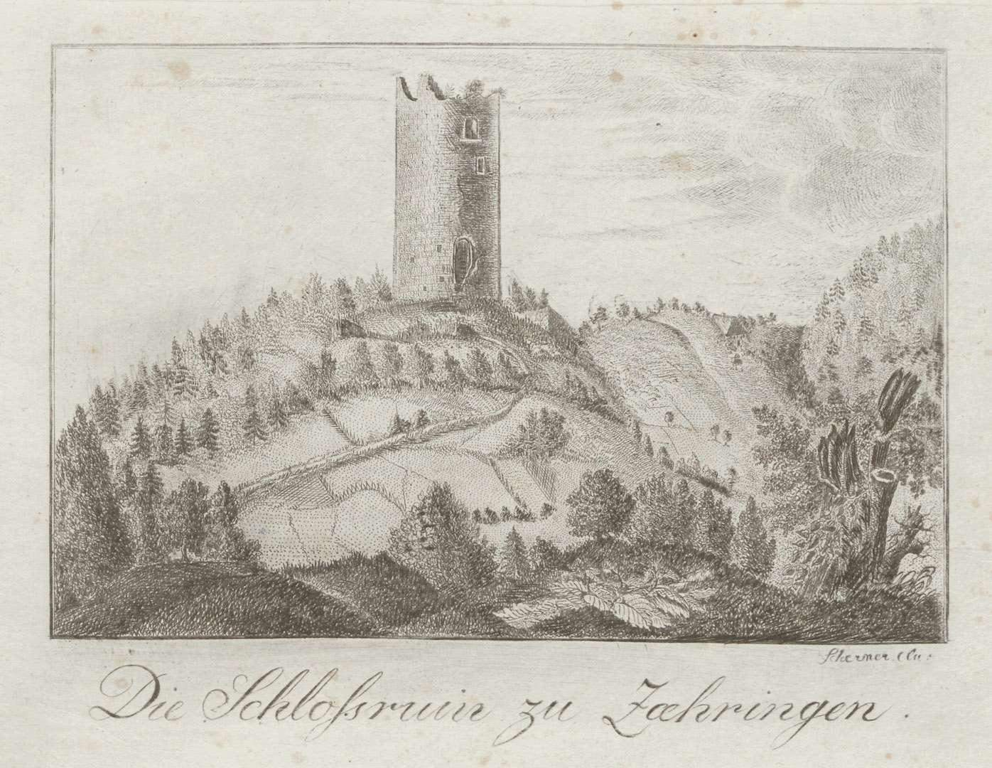 Die Schlossruin zu Zaehringen, Bild 1