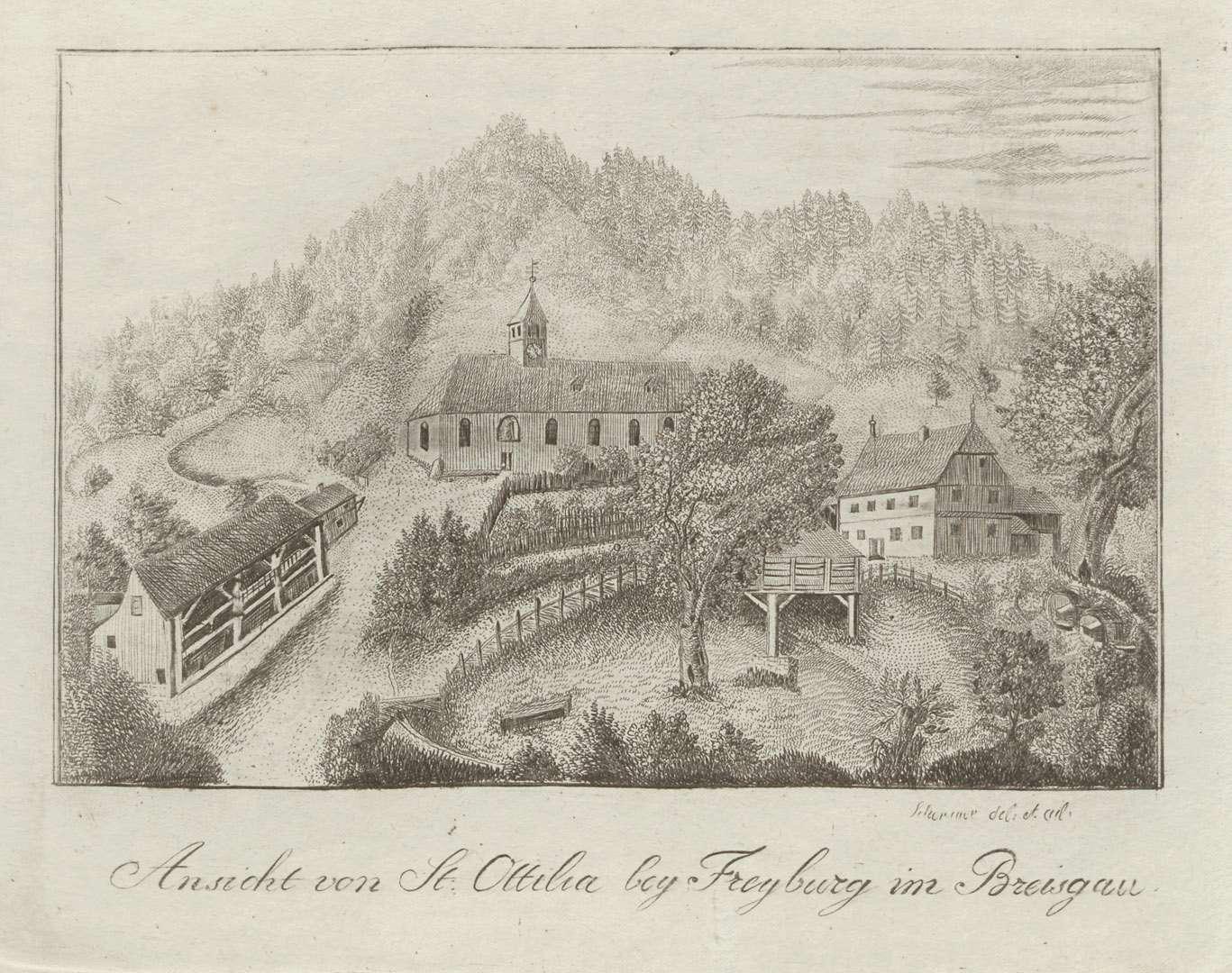 Ansicht von St. Ottilia bey Freyburg im Breisgau, Bild 1