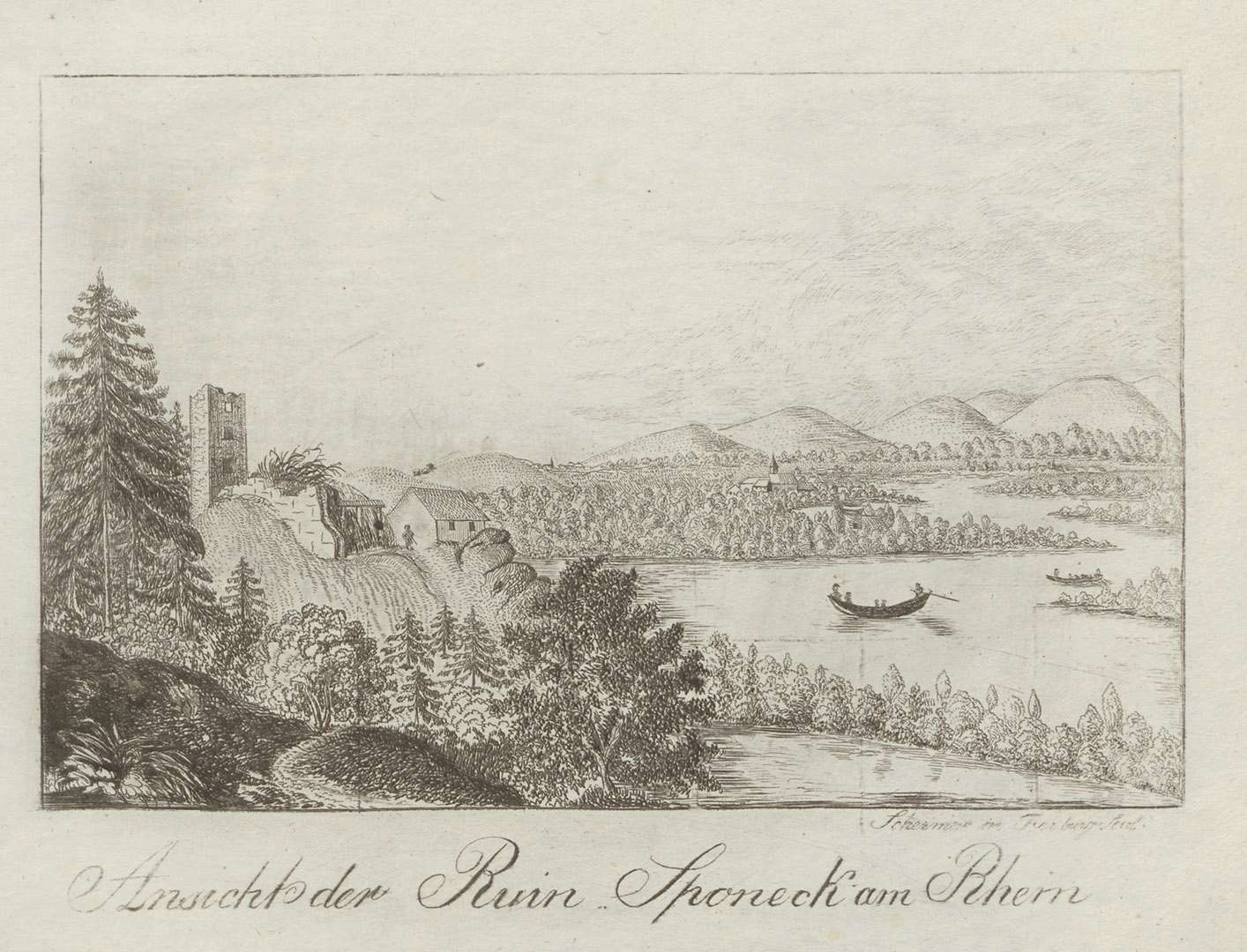 Ansicht der Ruin Sponeck am Rhein, Bild 1