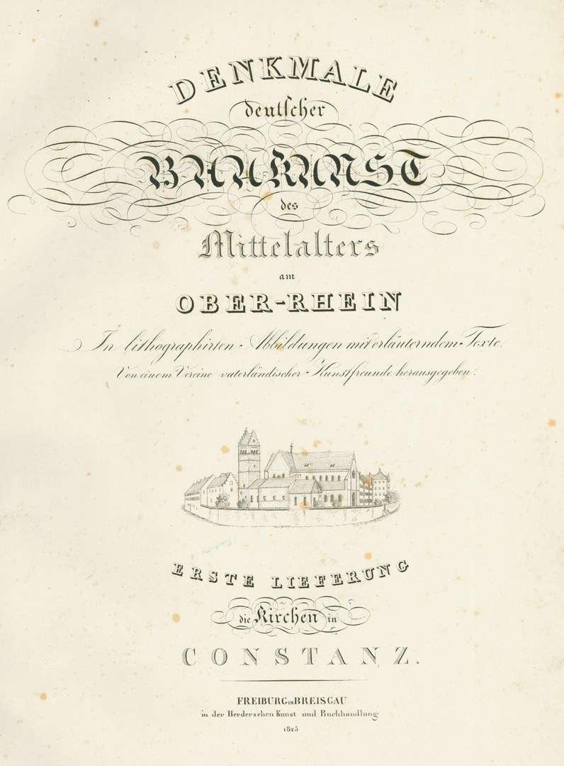 [Die Kirchen in Konstanz: Titelseite], Bild 1