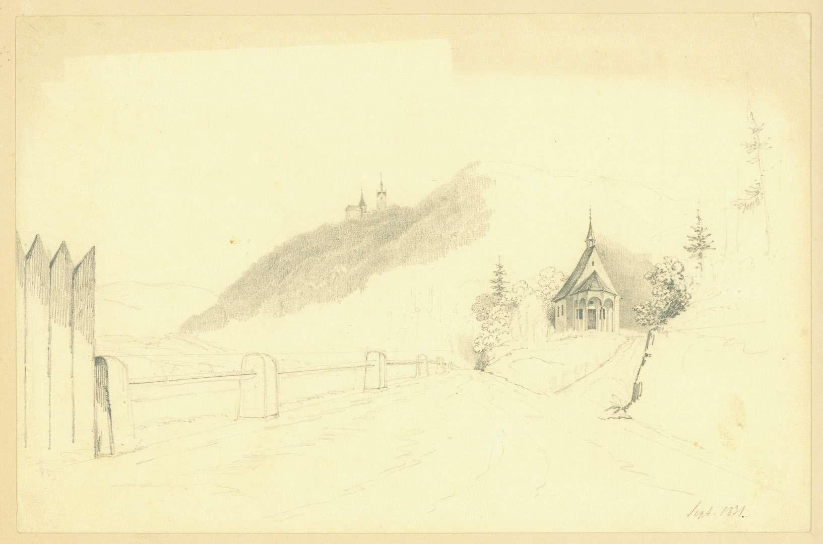 [Schloss Eberstein, im Vordergrund eine Kapelle], Bild 1