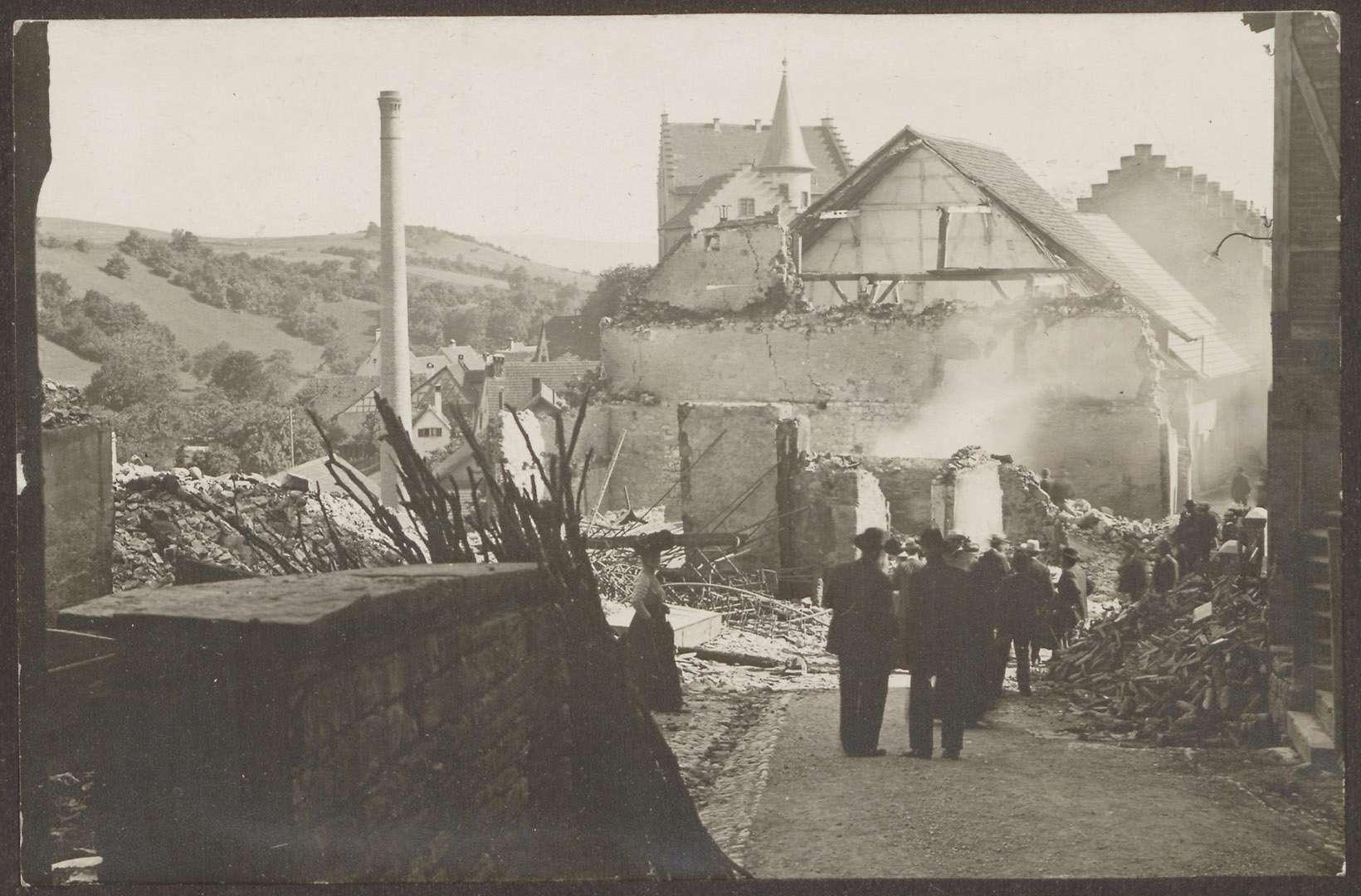 [Engen nach dem Stadtbrand vom 4. Juli 1911], Bild 1