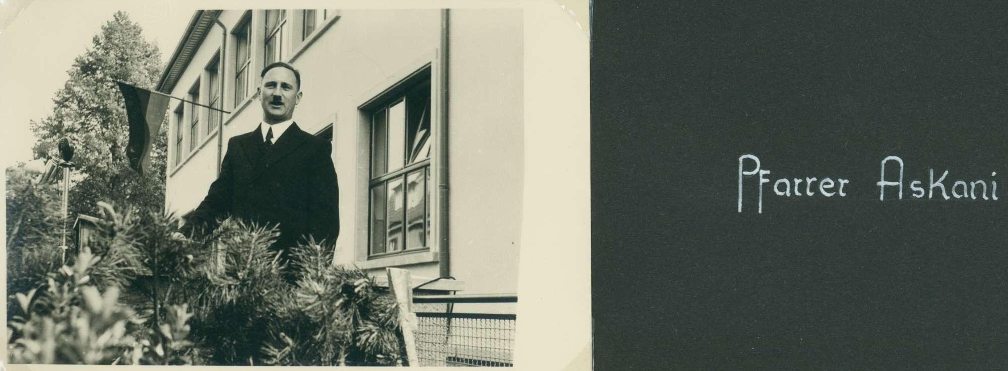 [Schulhausneubau in Brühl: Ansprache von] Pfarrer Beykirch, Bild 1