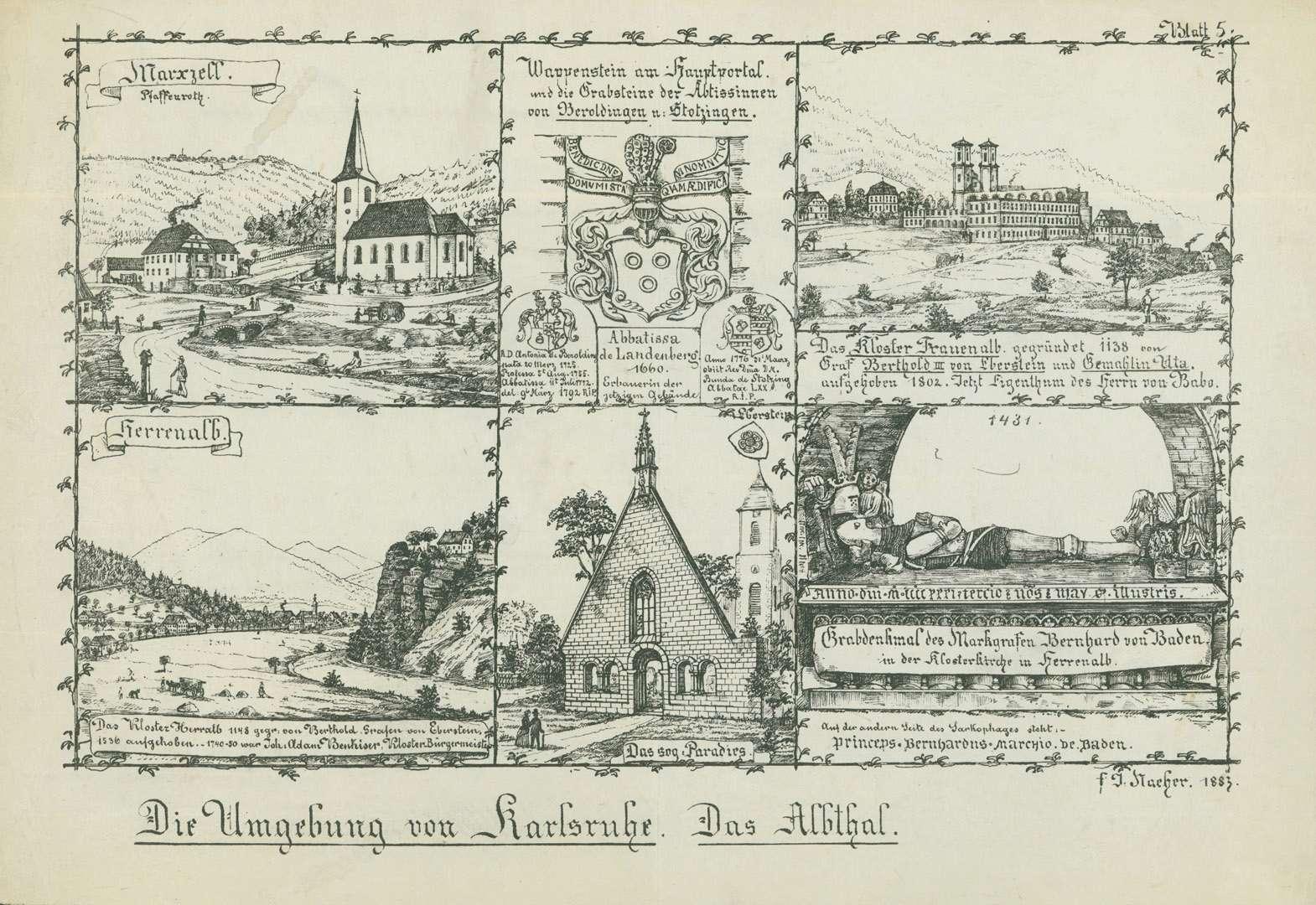 Die Umgebung von Karlsruhe - Das Albthal, Bild 1