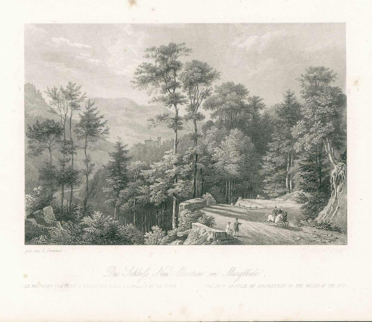 Das Schloss Neu-Eberstein im Murgthale., Bild 1