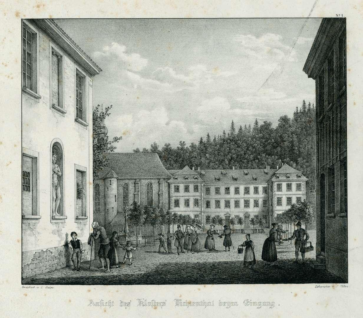 Ansicht des Klosters Lichtenthal beym Eingang, Bild 1