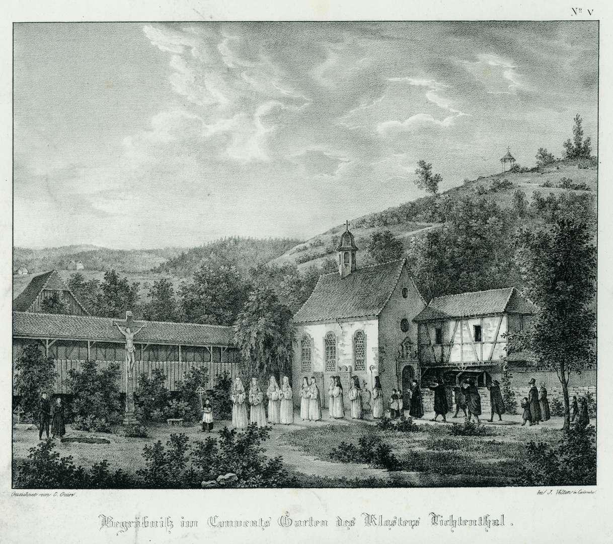 Begräbniß im Convents Garten des Klosters Lichtenthal, Bild 1