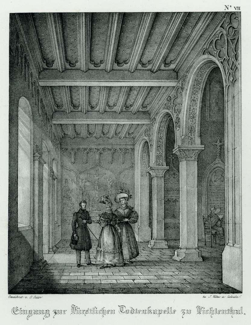 Eingang zur Fürstlichen Todtenkapelle zu Lichtenthal, Bild 1
