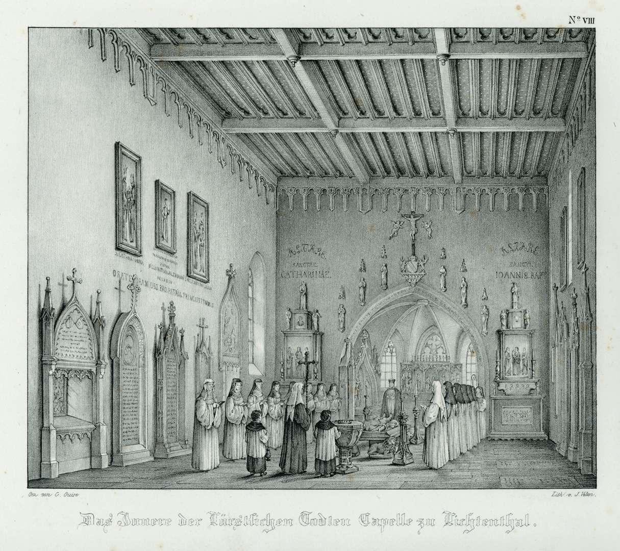 Das Innere der Fürstlichen Todten Capelle zu Lichtenthal, Bild 1
