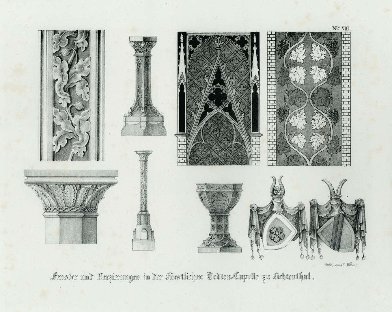 Fenster und Verzierungen in der Fürstlichen Todten-Capelle zu Lichtenthal, Bild 1