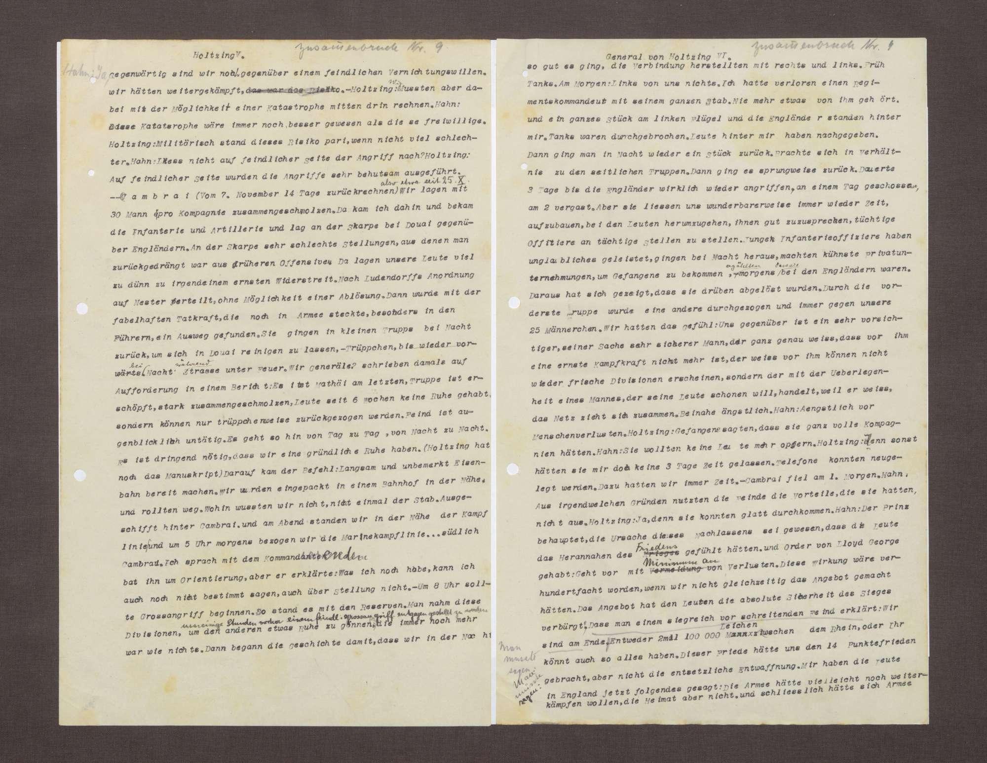 Bericht von Max von Holzing-Berstett bzgl. der Situation des Heeres 1918, Bild 3