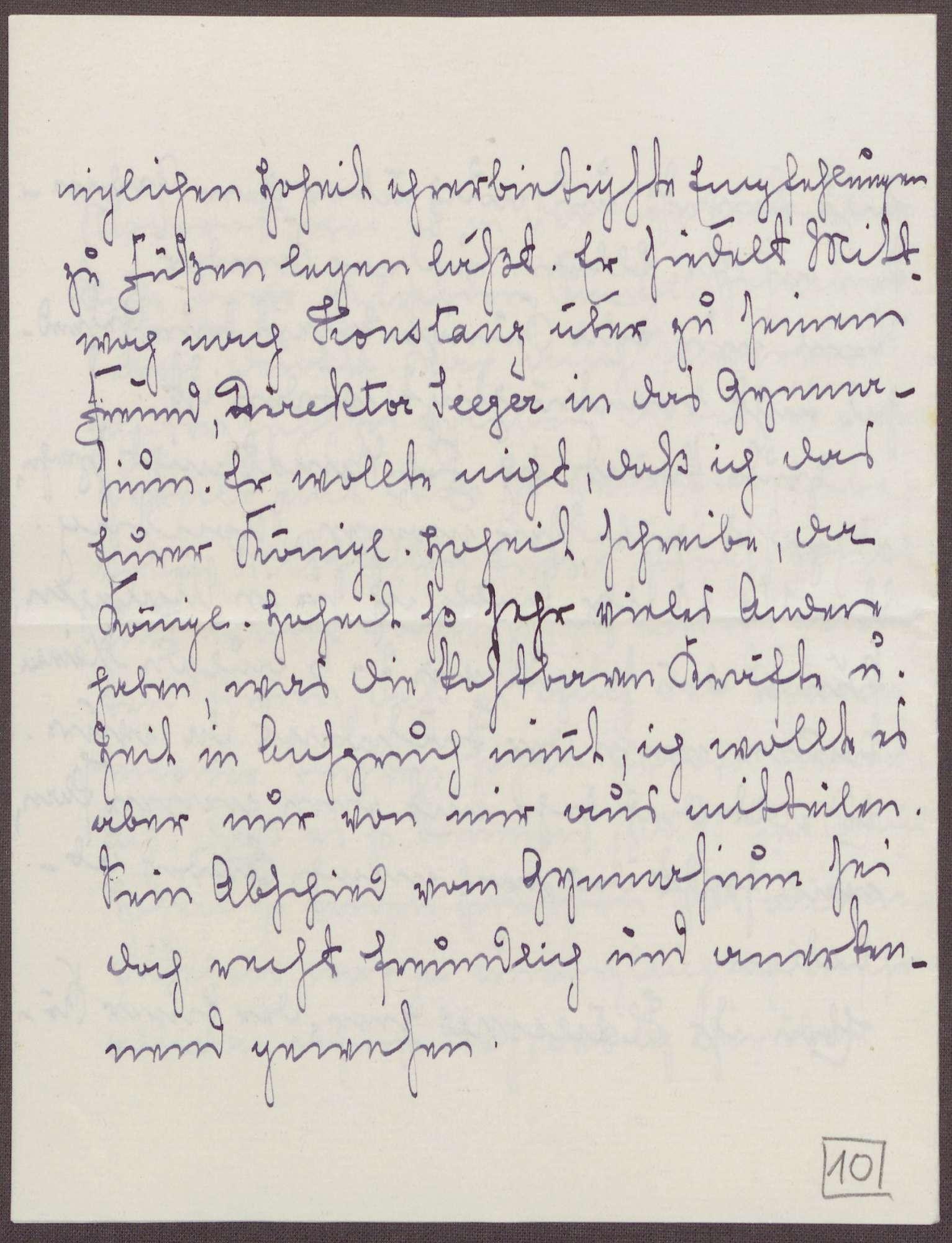 Schreiben von Emilie Göler von Ravensburg an Großherzogin Luise; Treffen mit Frau Wundt in Überlingen, Bild 3