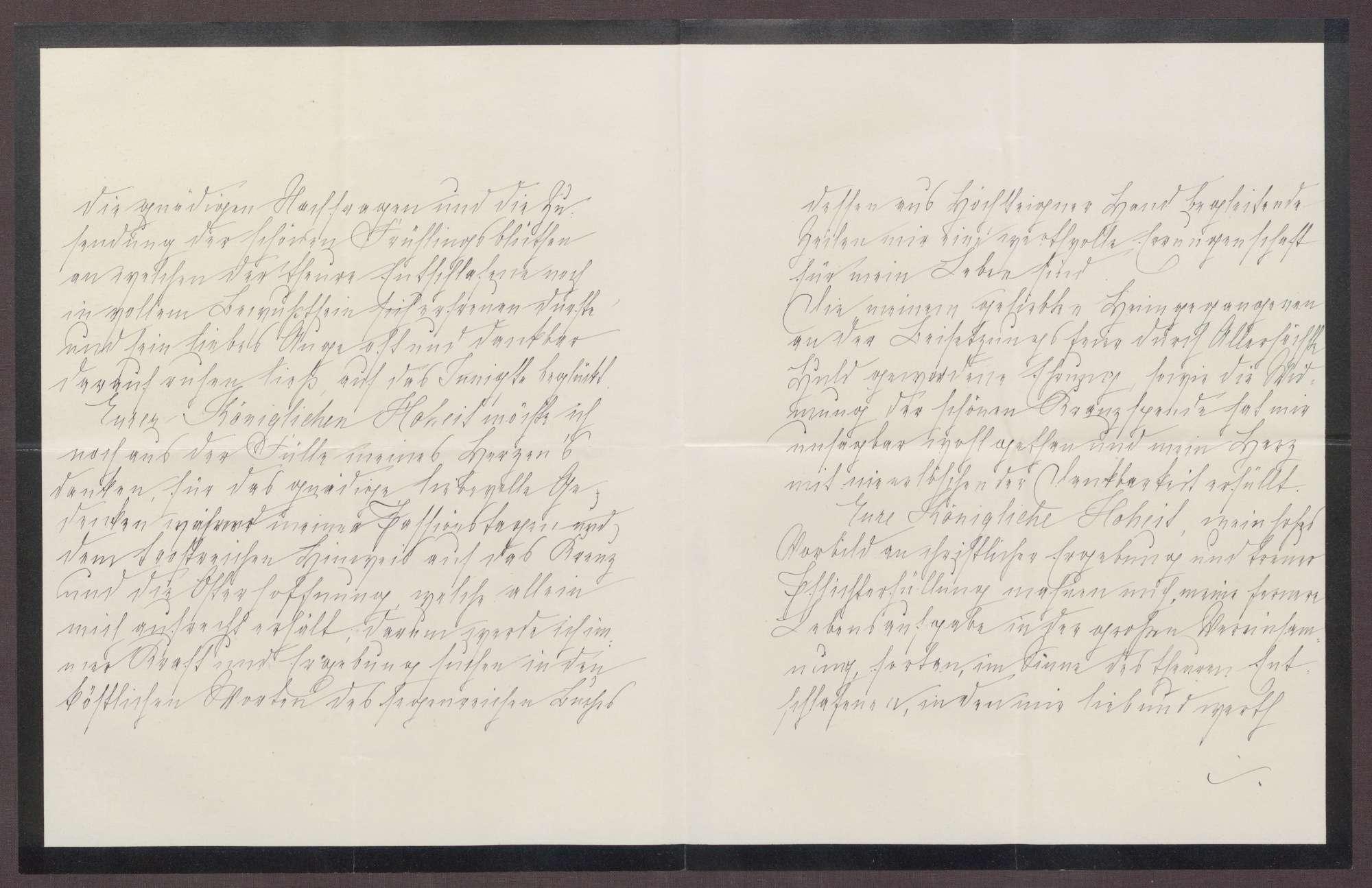 Schreiben von Anna Haas an die Großherzogin Luise; Tod des Ehemannes von Anna Haas und Dank für Anteilnahme durch die Großherzogin, Bild 2
