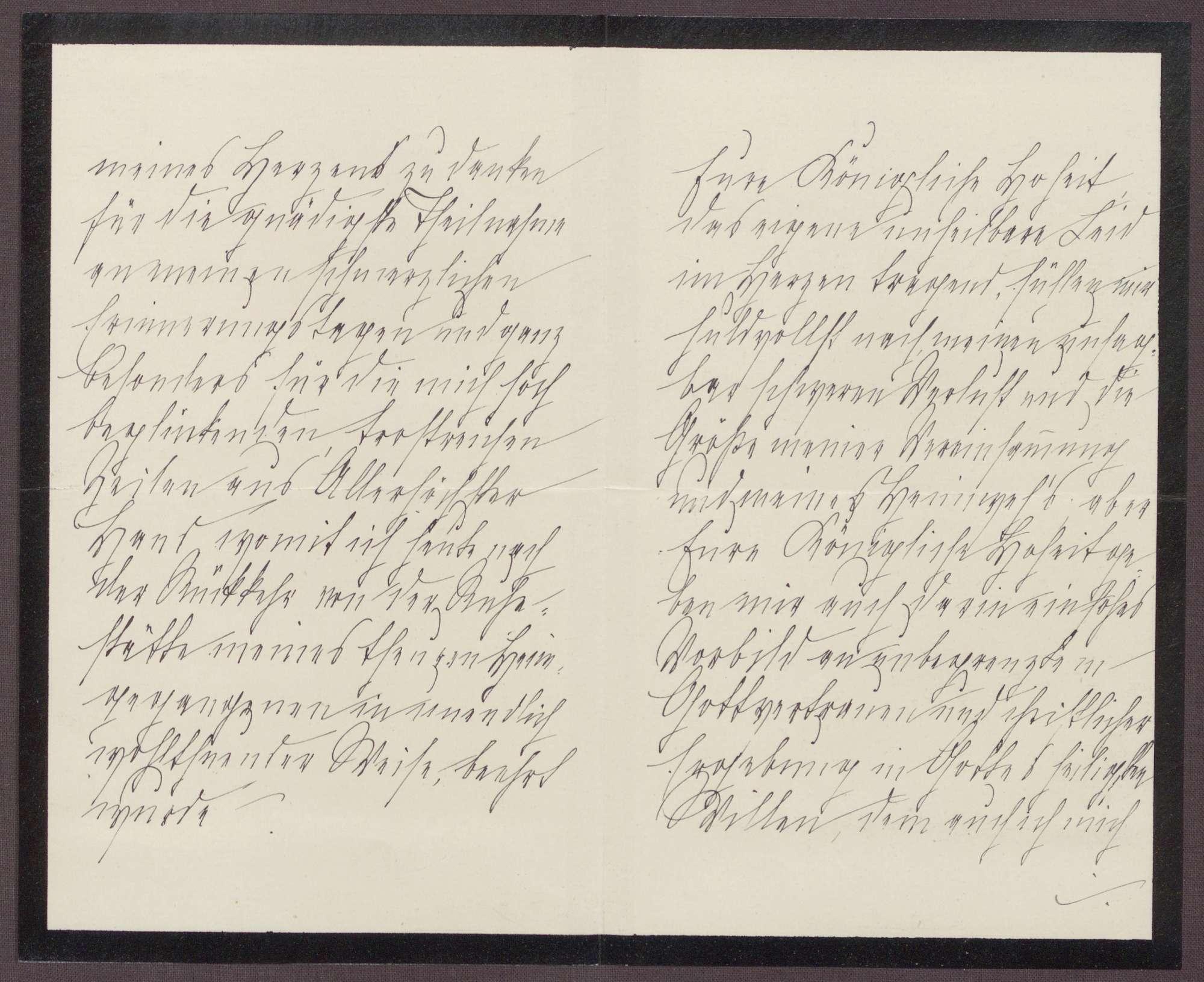 Schreiben von Anna Haas an die Großherzogin Luise; Dank an die Großherzogin für die Ehre, sie auf einer Reise begleiten zu dürfen, Bild 2