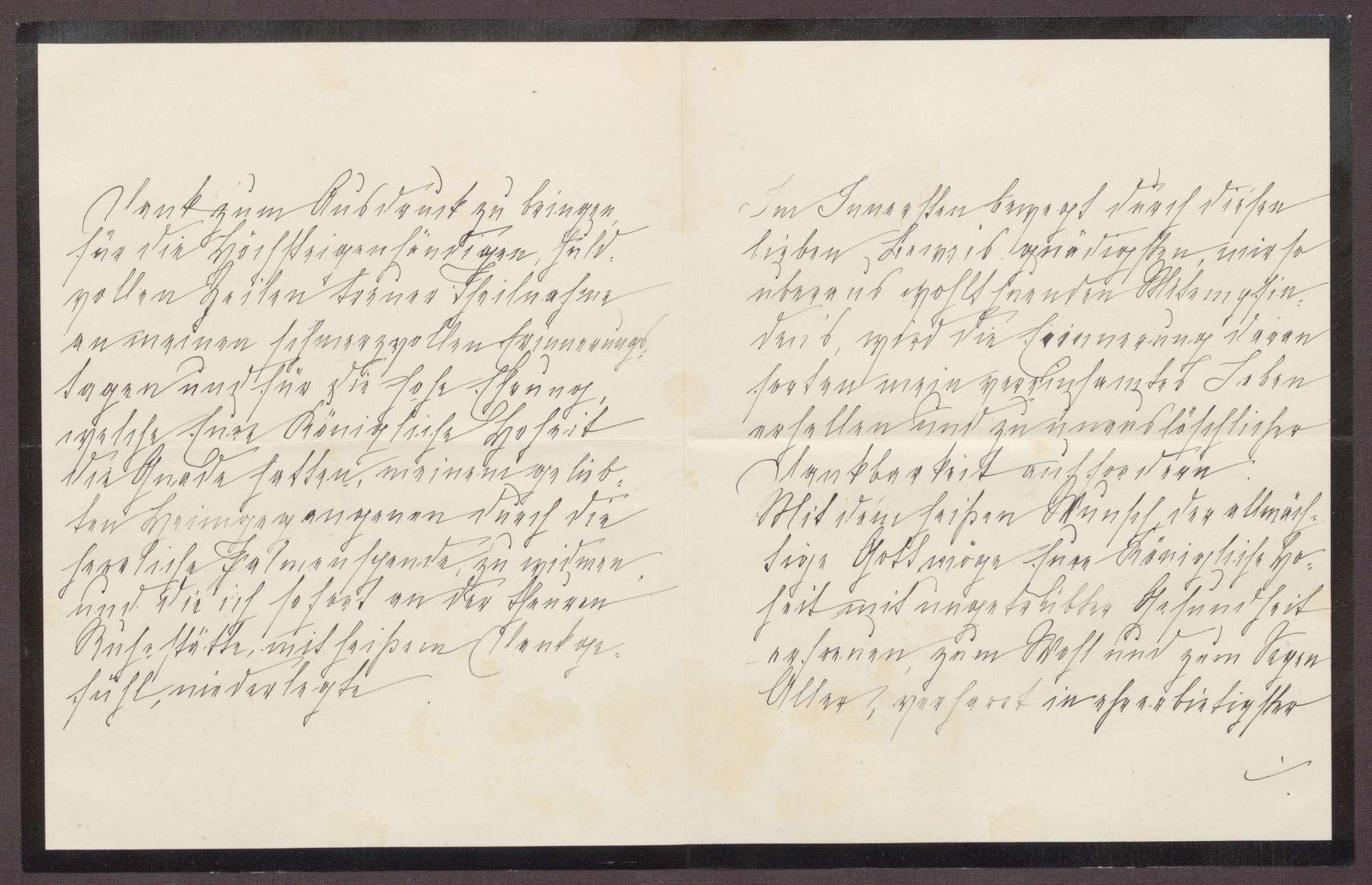 Schreiben von Anna Haas an die Großherzogin Luise; Dank für die aufmunternden Worte zum Todestag des Ehemannes, Bild 2