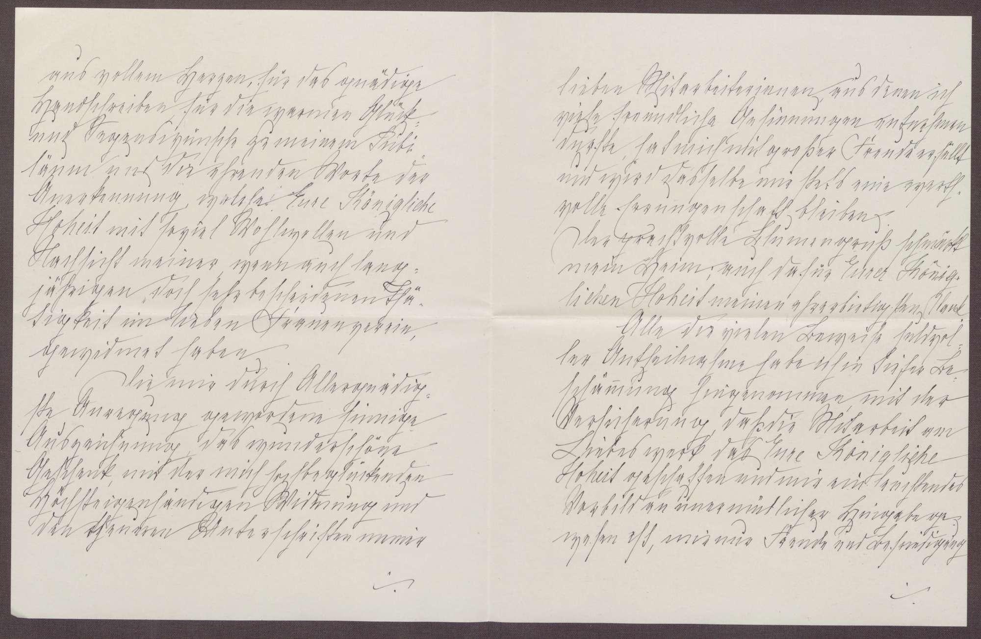 Schreiben von Anna Haas an die Großherzogin Luise; Dank für Jubiläumswünsche und den Blumengruß, Bild 2