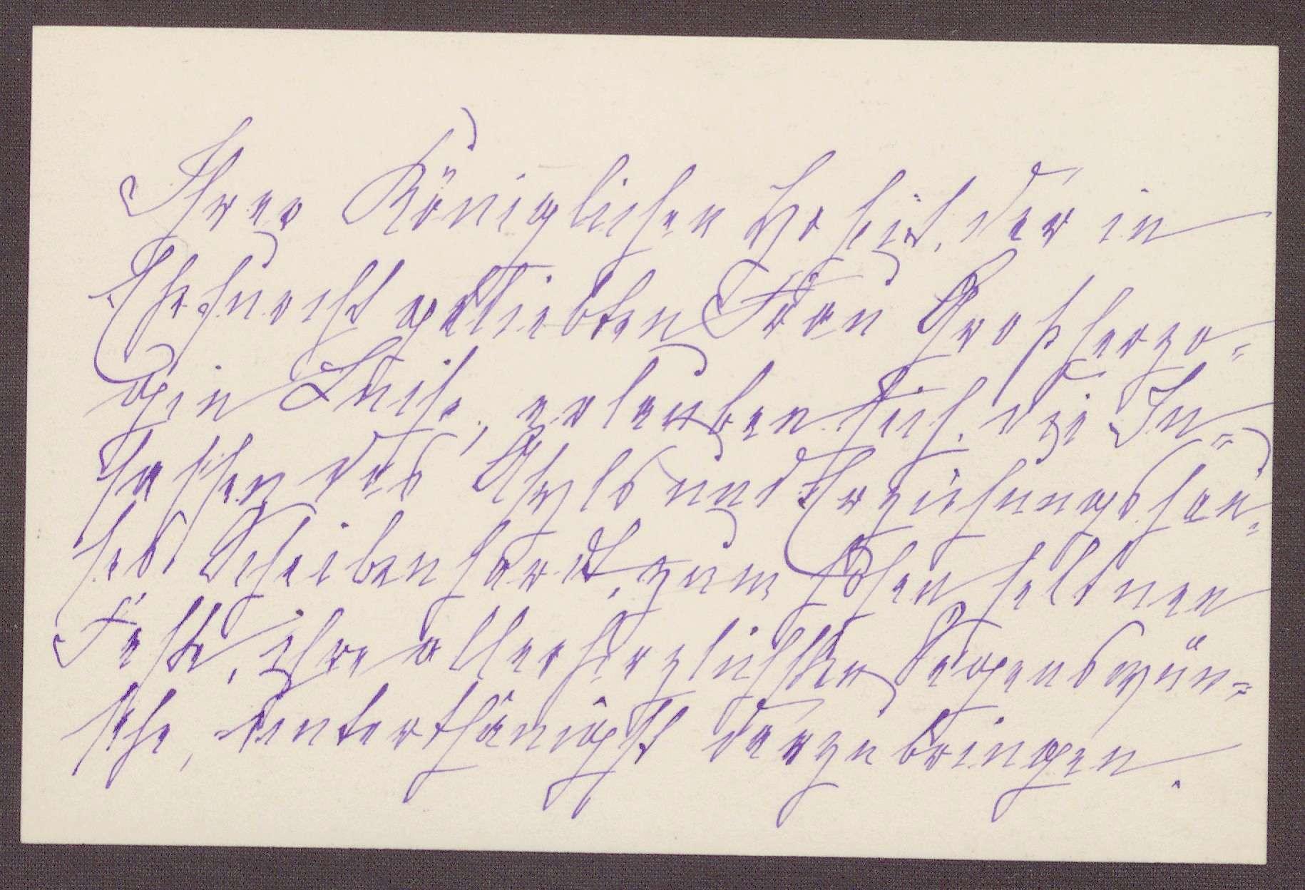 Karte von Anna Haas an die Großherzogin Luise; Segenswünsche für die Großherzogin, Bild 1