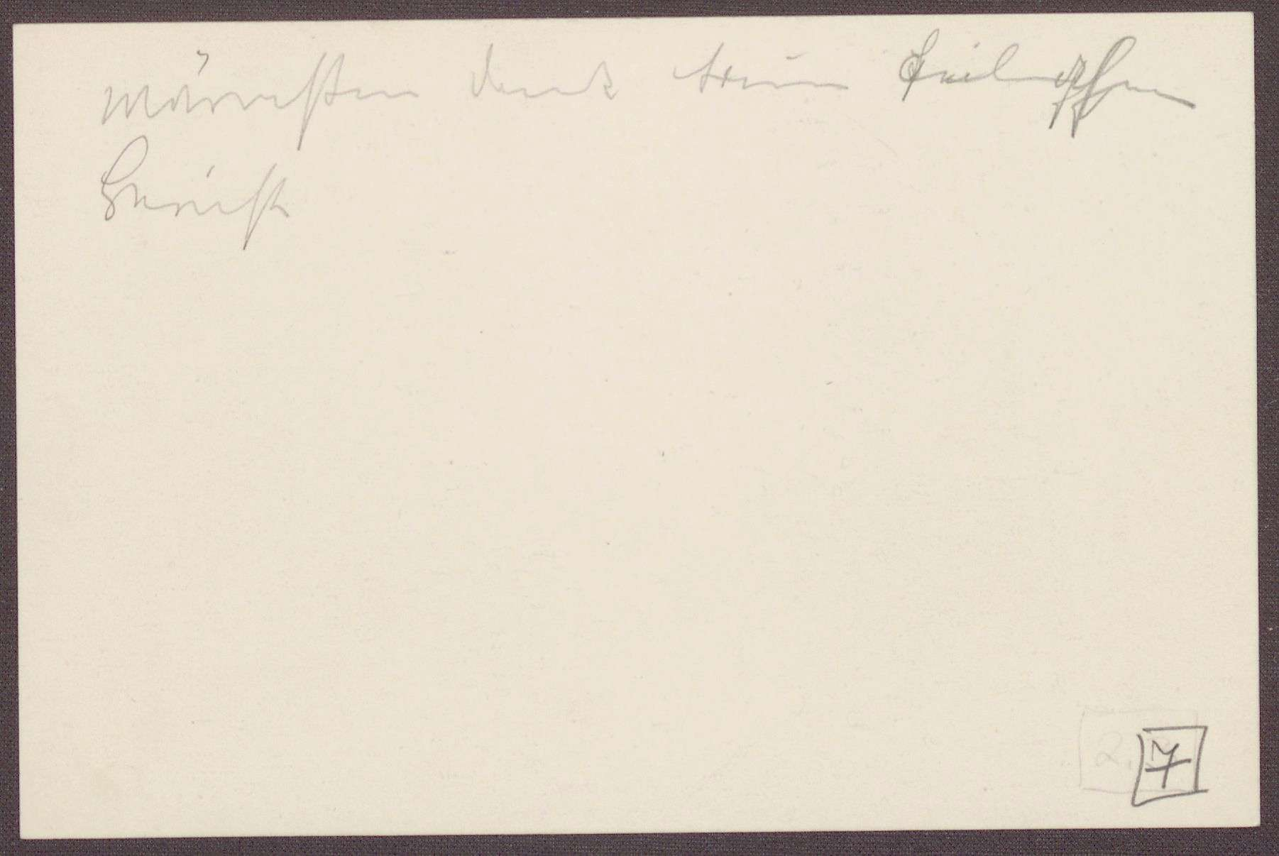Karte von Anna Haas an die Großherzogin Luise; Segenswünsche für die Großherzogin, Bild 2