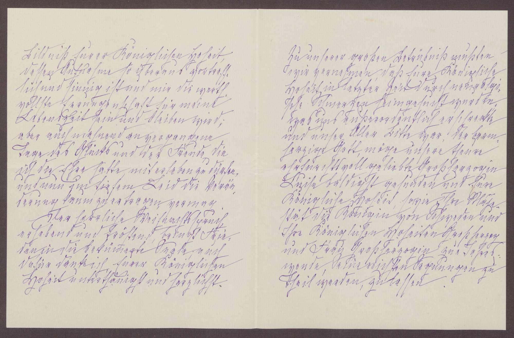 Schreiben von Anna Haas an die Großherzogin Luise; Dank für das Weihnachtsgeschenk und Hoffen auf eine baldige Gesundung der Großherzogin, Bild 2