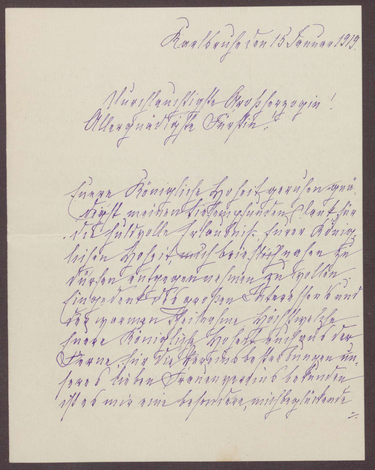 Schreiben von Anna Haas an die Großherzogin Luise; Holz-, Kohle- und Nahrungsmittelspenden und Renovierungsarbeiten in dem Heim, Bild 2
