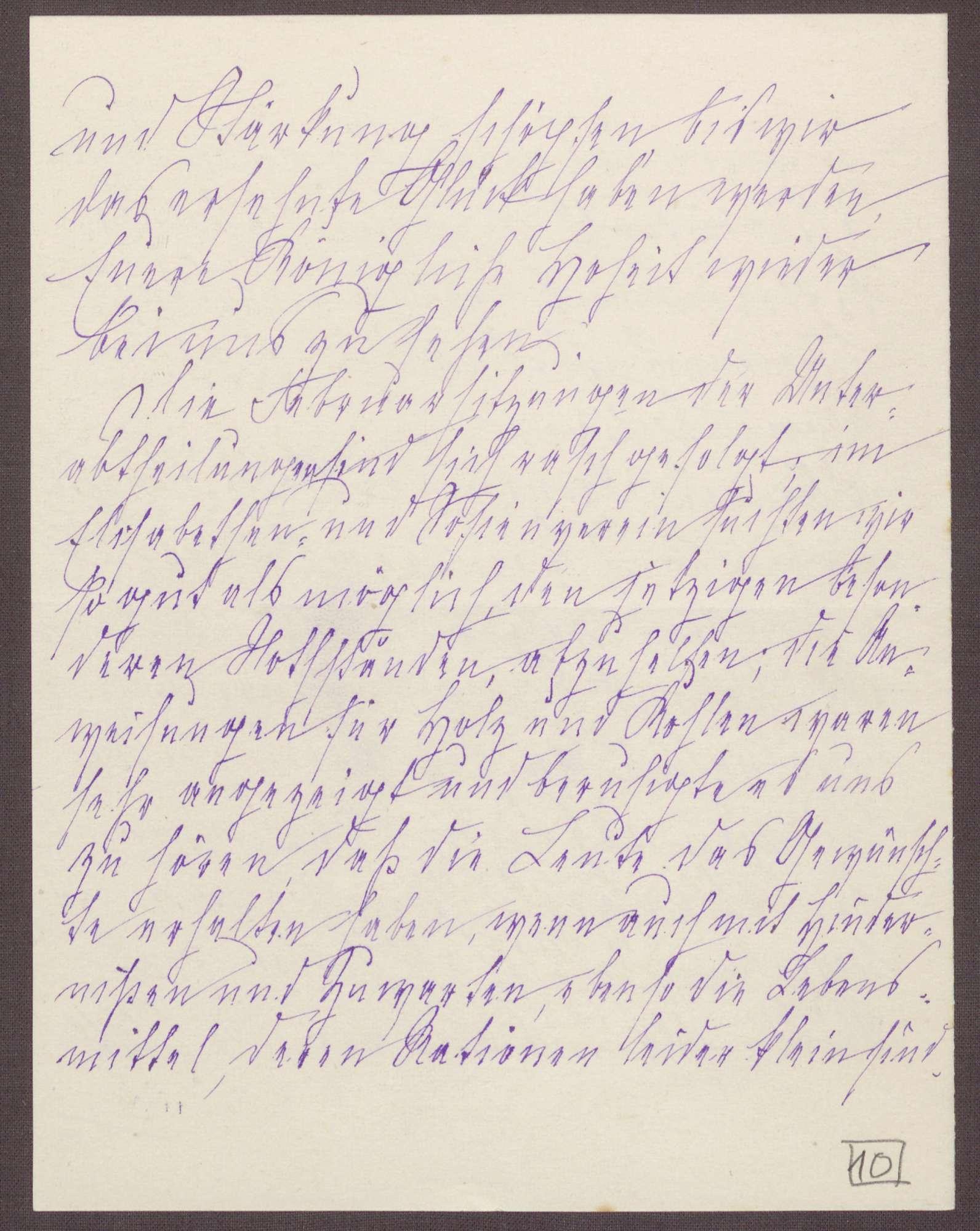 Schreiben von Anna Haas an die Großherzogin Luise; Leben mit knappen Nahrungsmittelrationen und der Zwang zum Sparen von Holz und Kohle; Frage der Unterhaltung einzelner Schulen, Bild 3