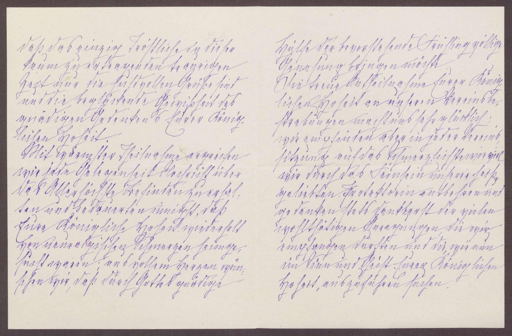 Schreiben von Anna Haas an die Großherzogin Luise; Dank für die Protektion und Anteilnahme der Großherzogin; Umzug der Volksküche in den alten Bahnhof und Berichte aus den Vereinssitzungen, Bild 2
