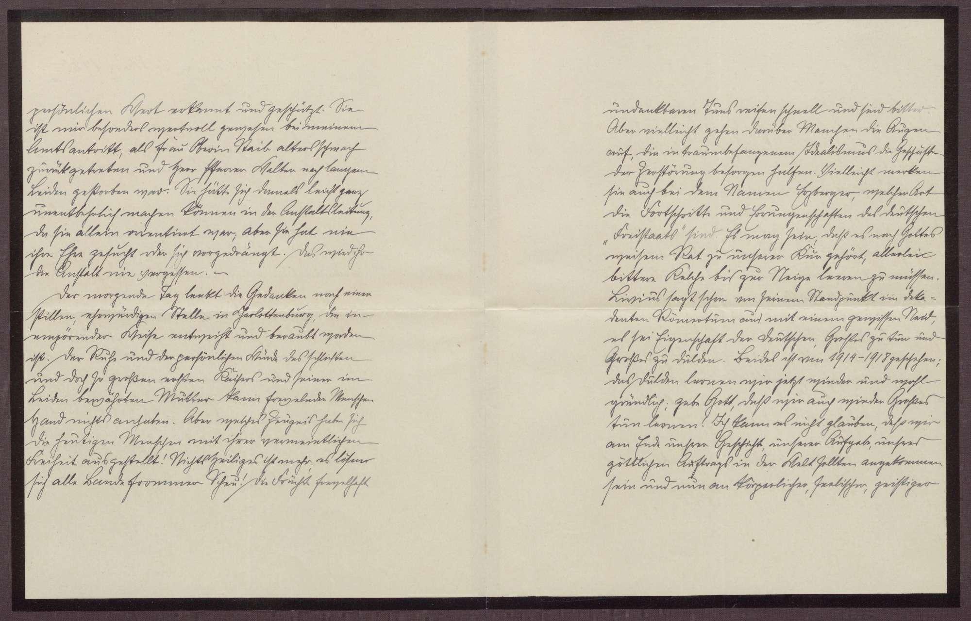Schreiben von Friedrich Katz an die Großherzogin Luise; Dank für die Anteilnahme der Großherzogin zum Tod von Emma Hoffmann; Kritik an der Republik und an Matthias Erzberger, Bild 2