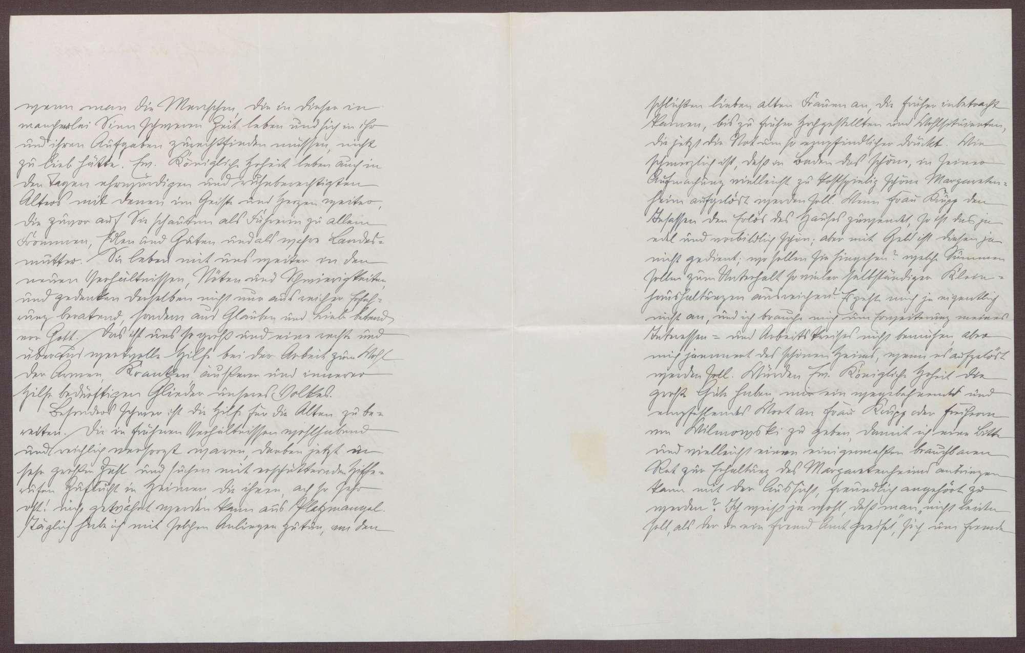 Schreiben von Friedrich Katz an die Großherzogin Luise; Aufenthalt der Großherzogin auf der Insel Mainau; Klage über die gegenwärtige Zeit, Bild 3