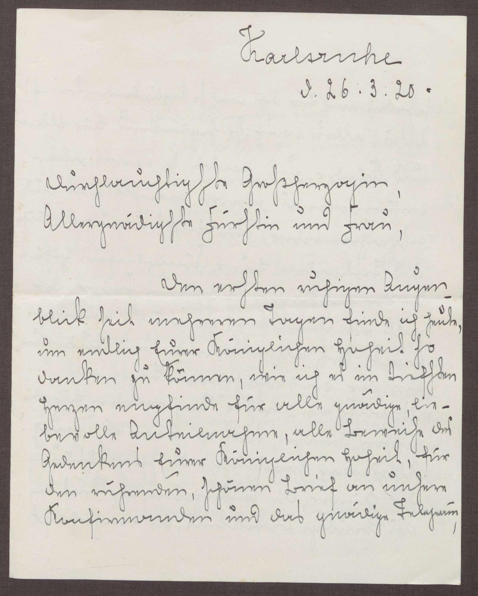 Schreiben von Emilie Göler an die Großherzogin Luise; Bericht von ...