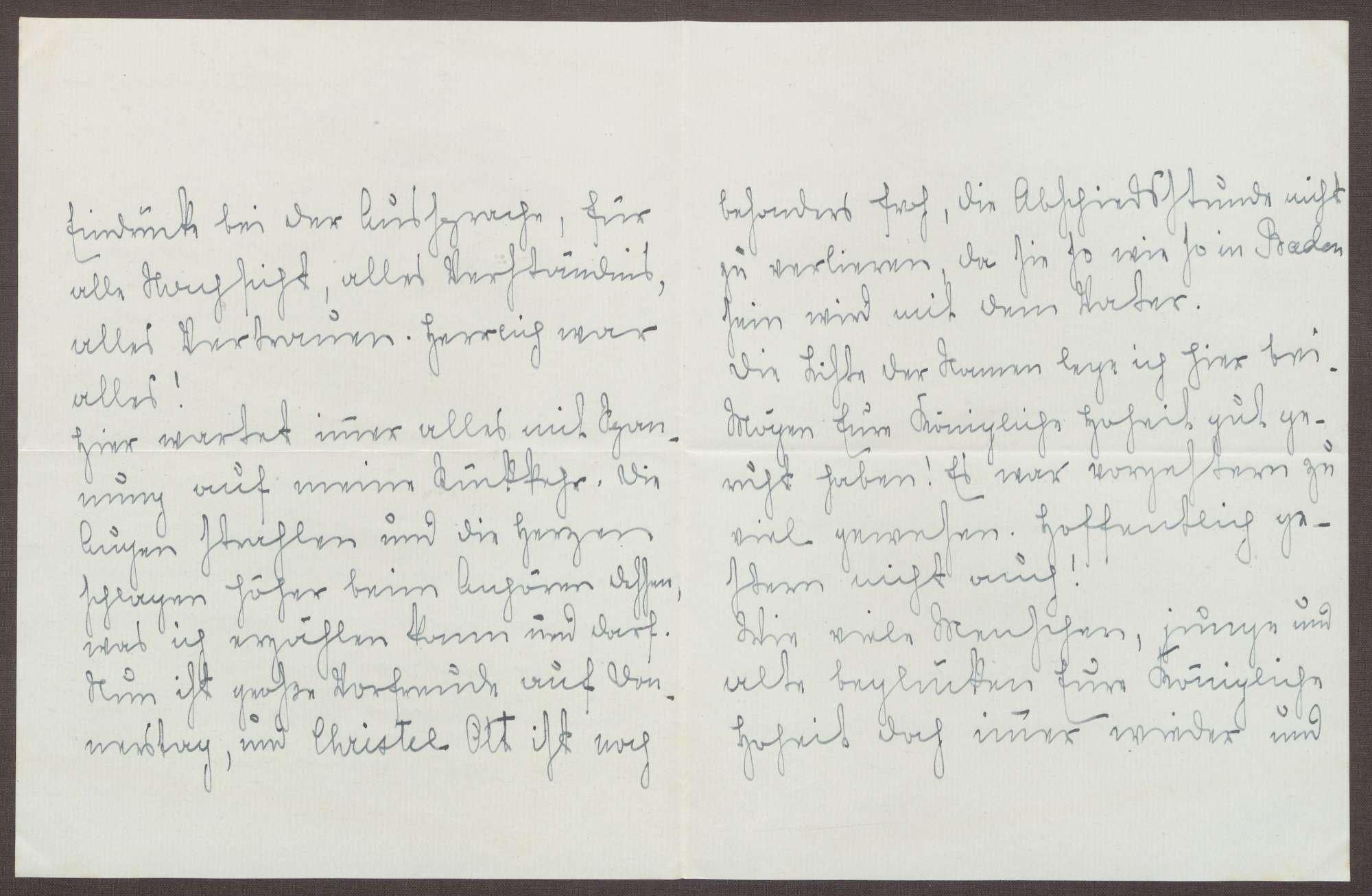 Schreiben von Emilie Göler an die Großherzogin Luise; Dank für die gemeinsamen Stunden und baldiger Abschied zur Insel Mainau, Bild 2