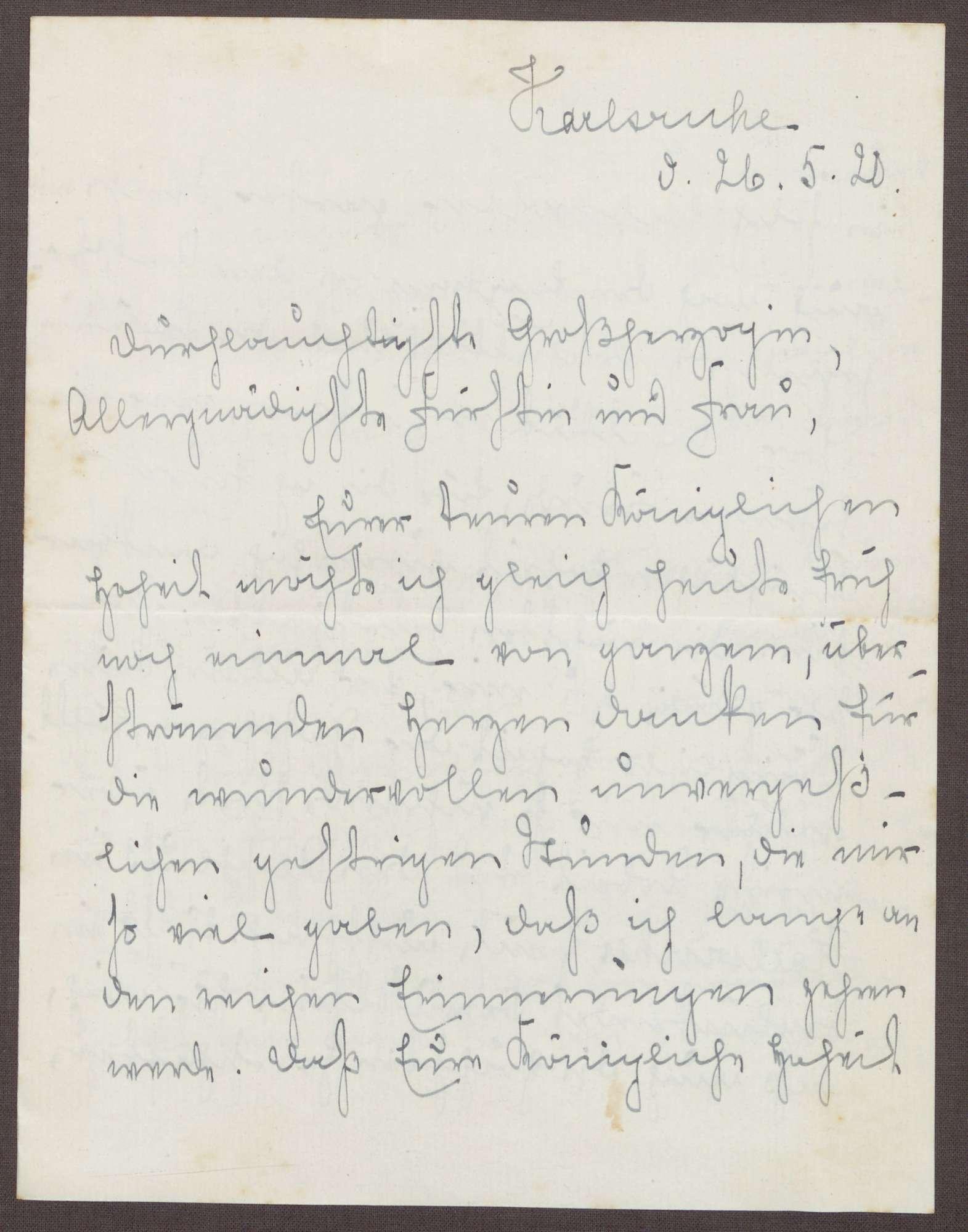 Schreiben von Emilie Göler an die Großherzogin Luise; Treffen mit dem Großherzog Friedrich II., Bild 1