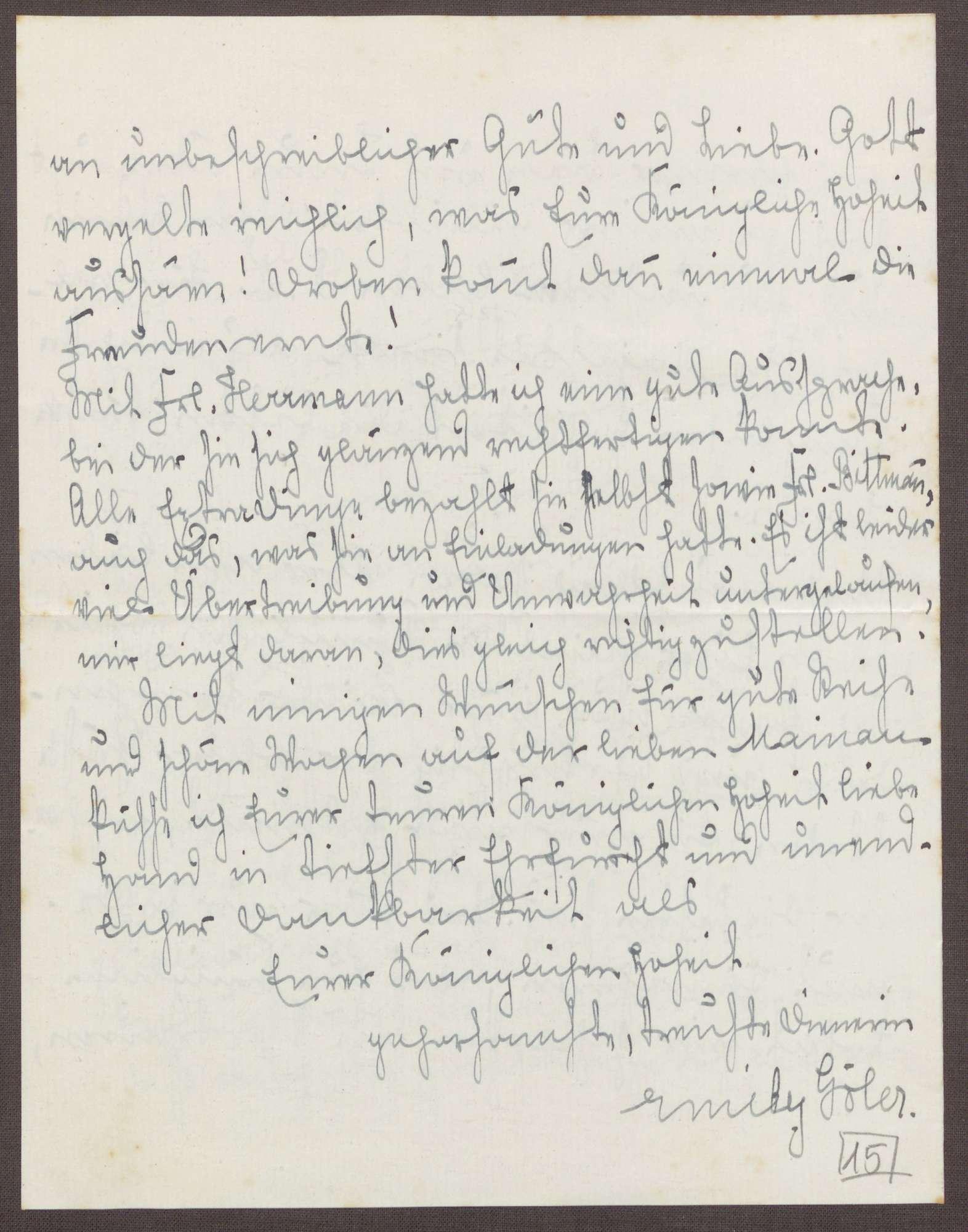 Schreiben von Emilie Göler an die Großherzogin Luise; Treffen mit dem Großherzog Friedrich II., Bild 3