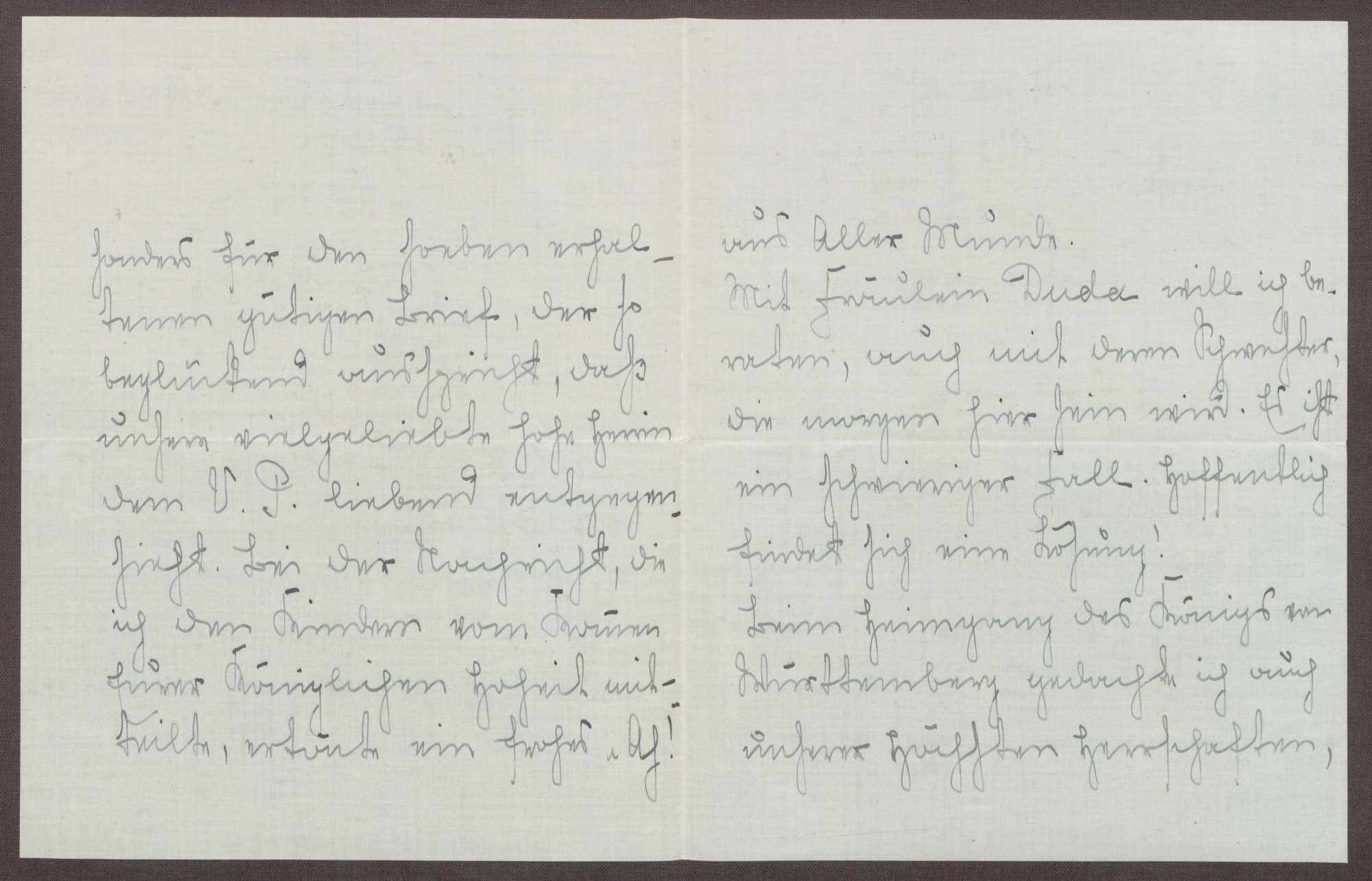 Schreiben von Emilie Göler an die Großherzogin Luise; Tod des Königs Wilhelm II. von Württemberg, Bild 2