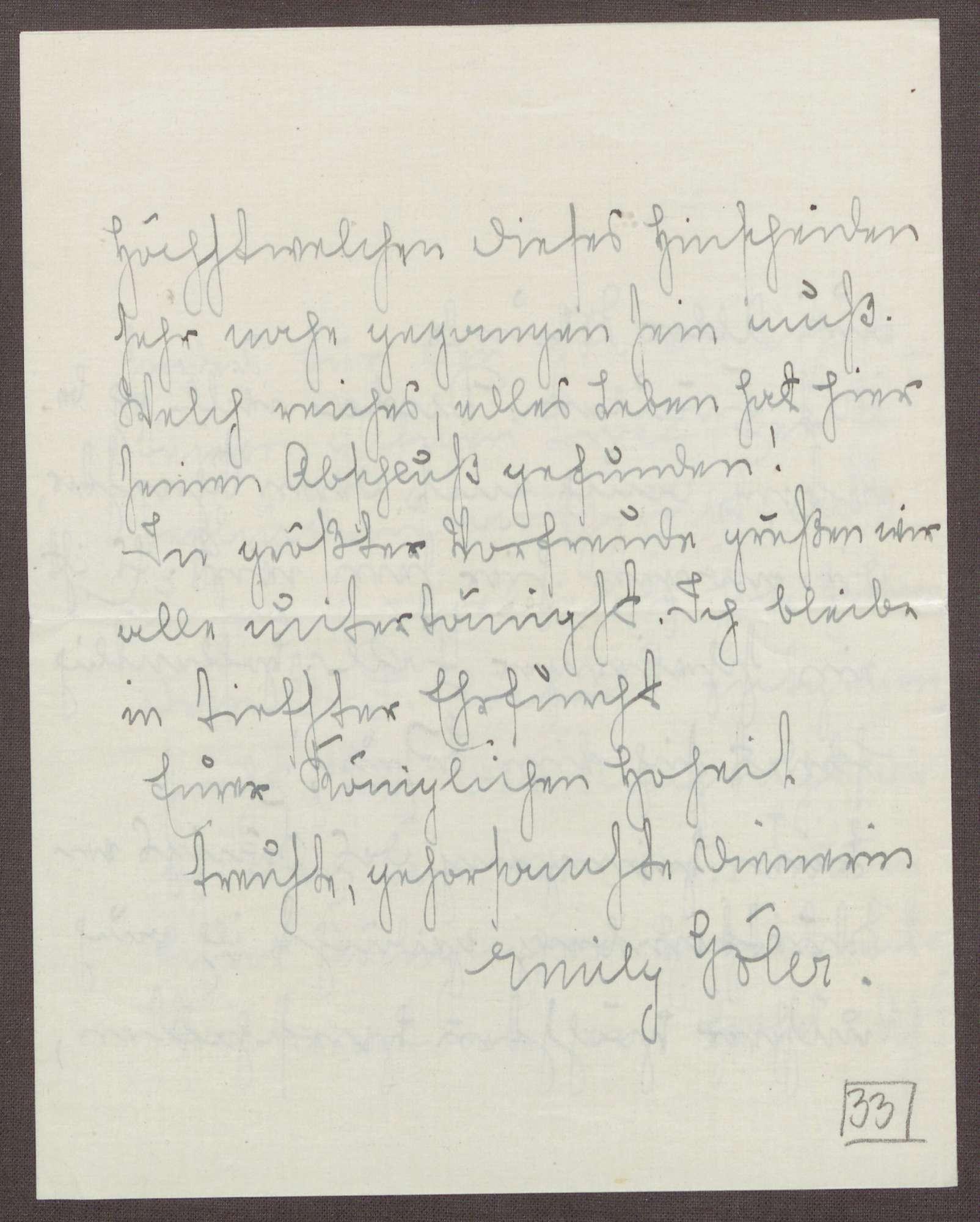 Schreiben von Emilie Göler an die Großherzogin Luise; Tod des Königs Wilhelm II. von Württemberg, Bild 3