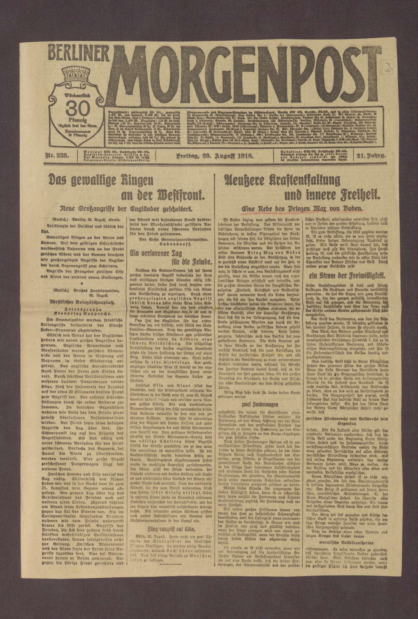 """Artikel in der Berliner Morgenpost: """"Äußere Kraftentlastung und innere Freiheit"""", Bild 3"""