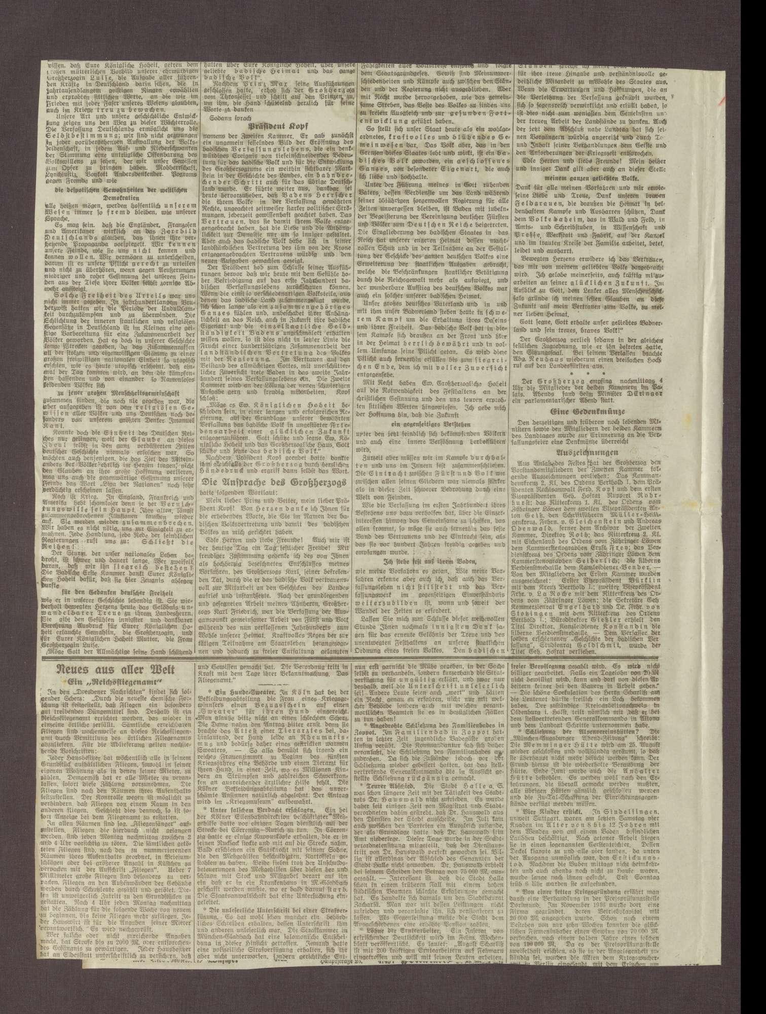 """Artikel in der Heidelberger Zeitung: """"Gegenhiebe"""", Bild 2"""
