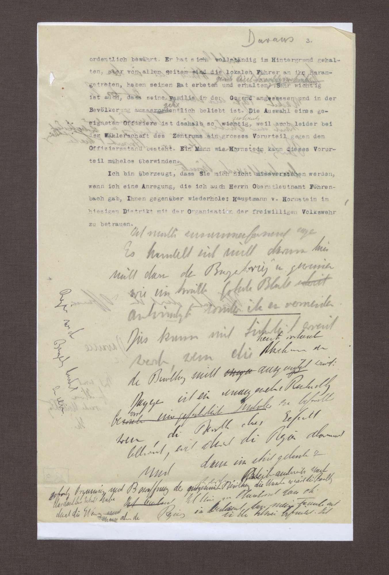 Schreiben von Prinz Max von Baden an Julius von Dawans; Politische Lage im Seekreis; Spartakisten in Friedrichshafen und Bedrohung der Familie Max von Badens, Bild 2