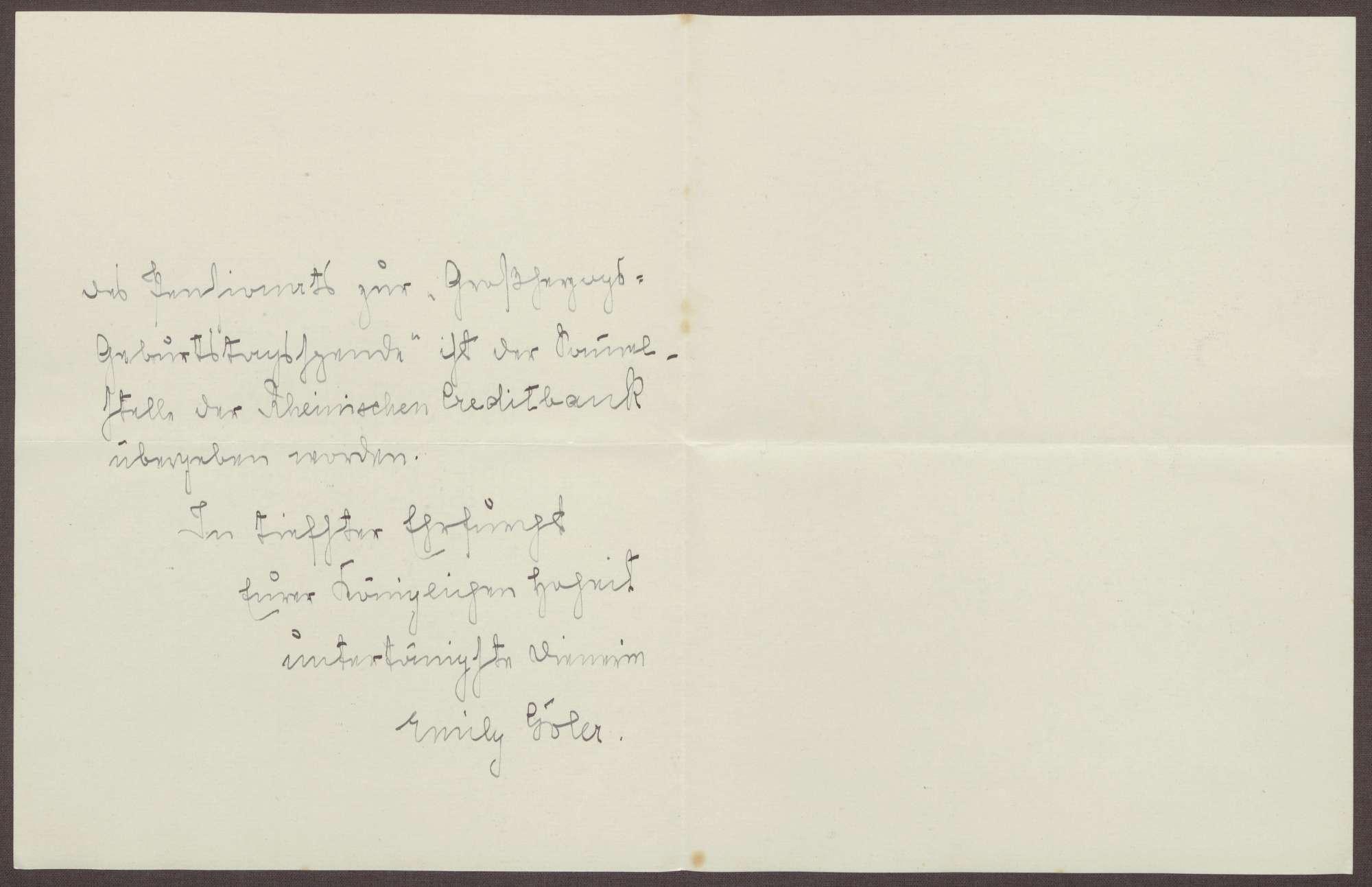 Schreiben von Emilie Göler an die Großherzogin Luise; Geburtstagswünsche für den Großherzog Friedrich II., Bild 2