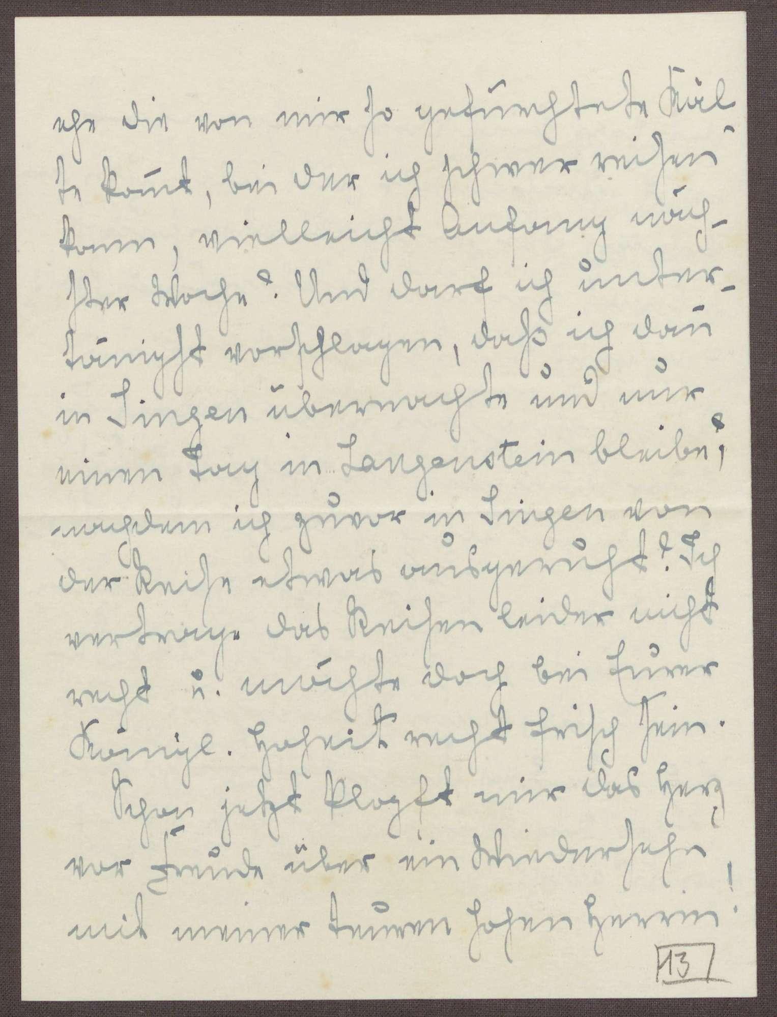 Schreiben von Emilie Göler an die Großherzogin Luise; Planung eines Besuchs der Großherzogin in Langenstein; Rückkehr der Hälfe der Kinder, Bild 3