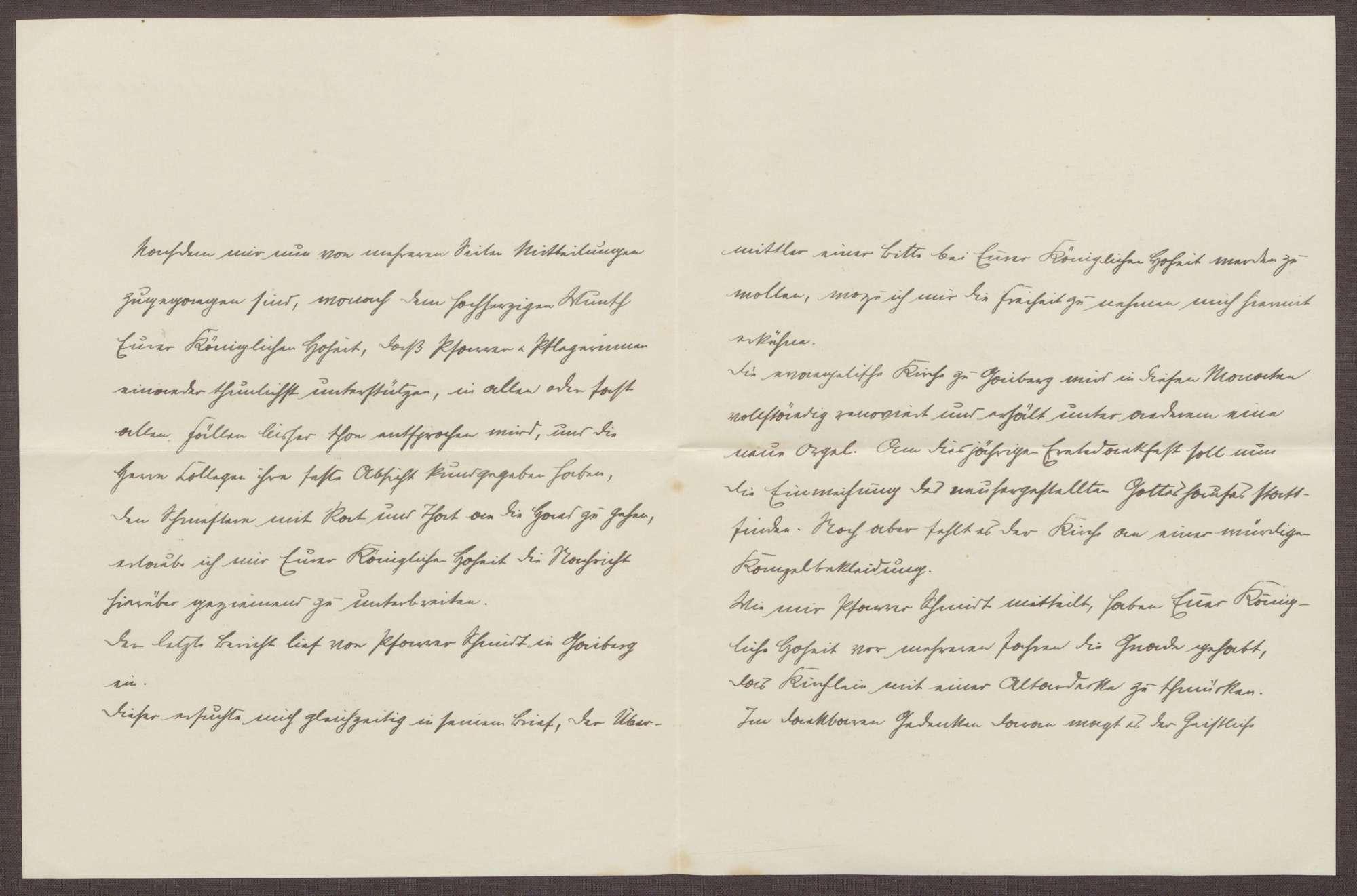 Schreiben von Otto Frommel an die Großherzogin Luise; Beziehung zwischen den Pflegeeinrichtungen und den Pfarreien; neue Orgel für die Kirche in Gaiberg, Bild 2