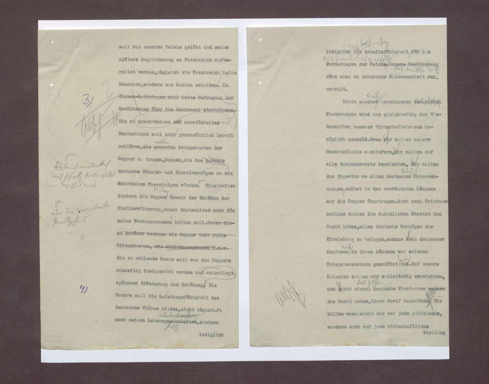 Übergabe der Observation der deutschen Delegation bzgl. der Friedensbedingungen, Bild 2