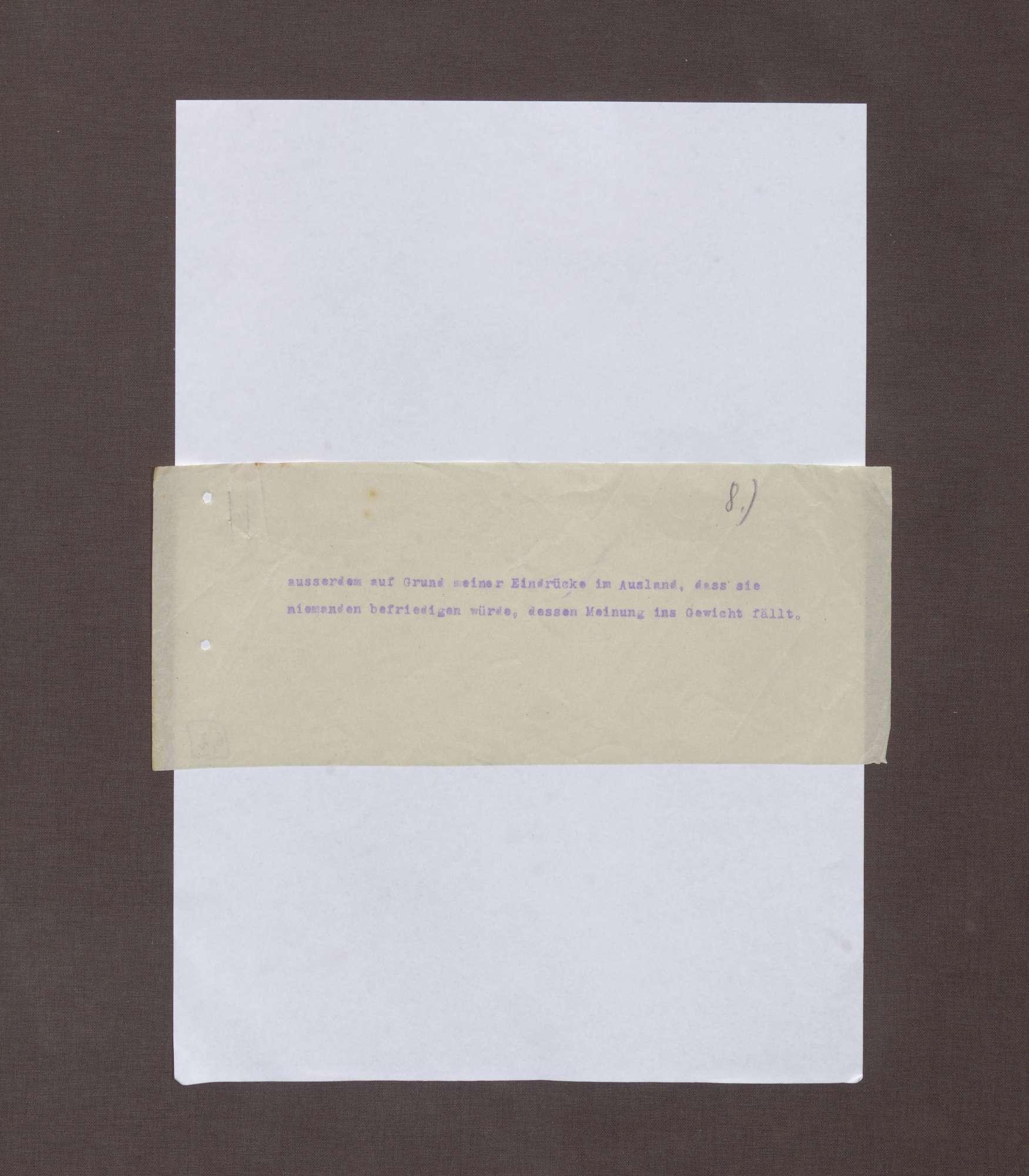 Schreiben von Albrecht Mendelssohn-Bartholdy bzgl. eines Briefs Max Webers an die Redaktion der Frankfurter Zeitung, Bild 3