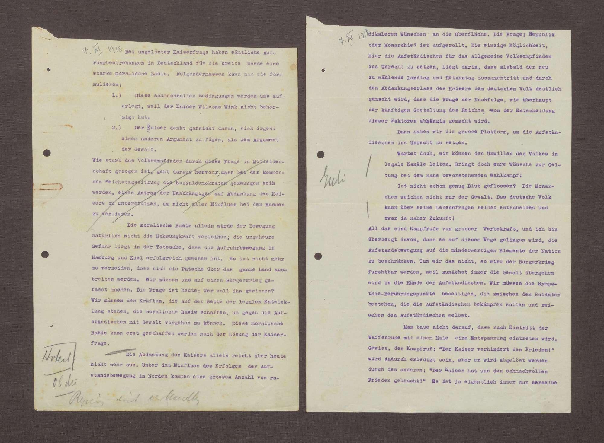 Denkschrift über die moralische Basis der Kaiserfrage, Bild 1