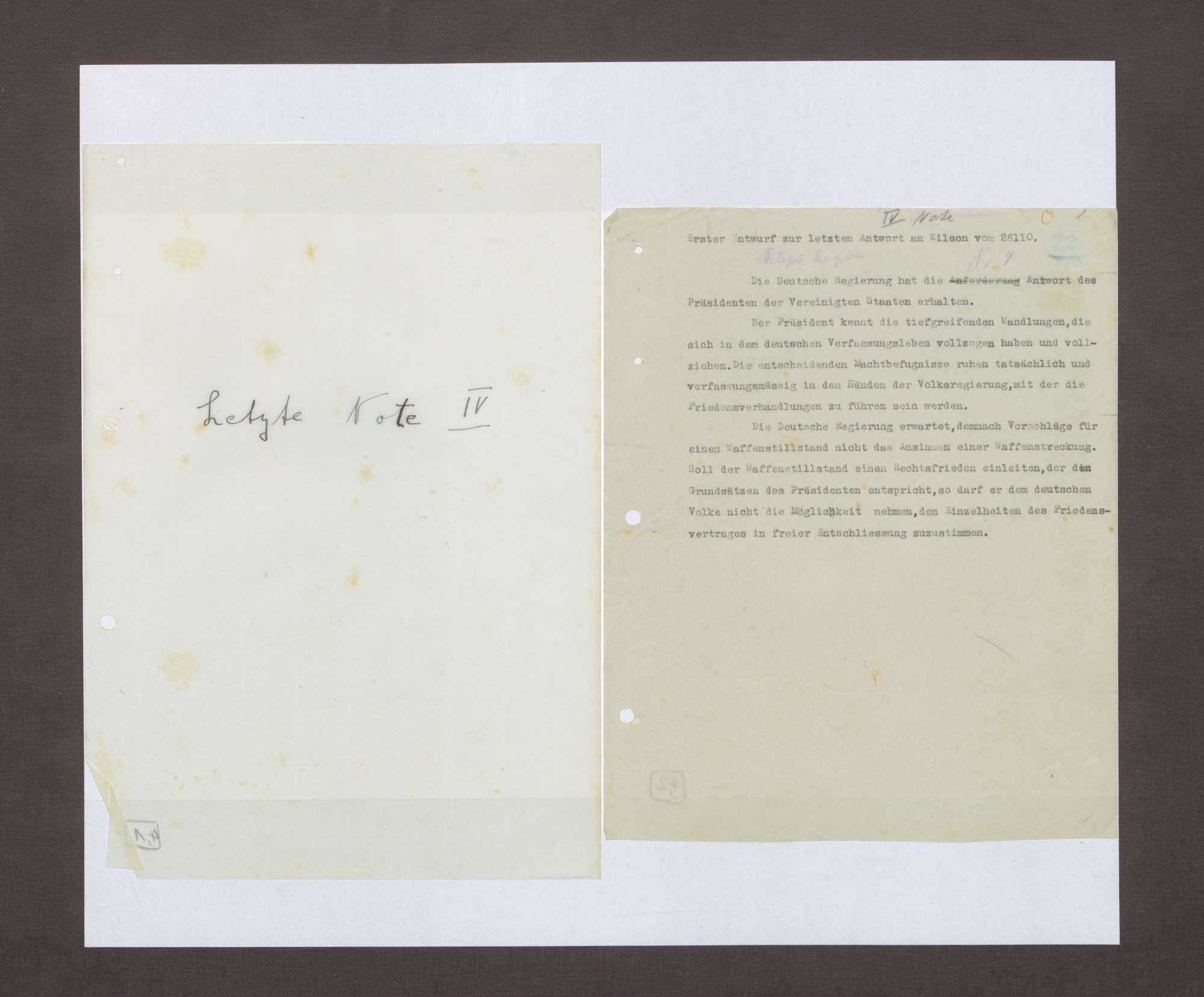 4. Note, 25.10.1918, Bild 1