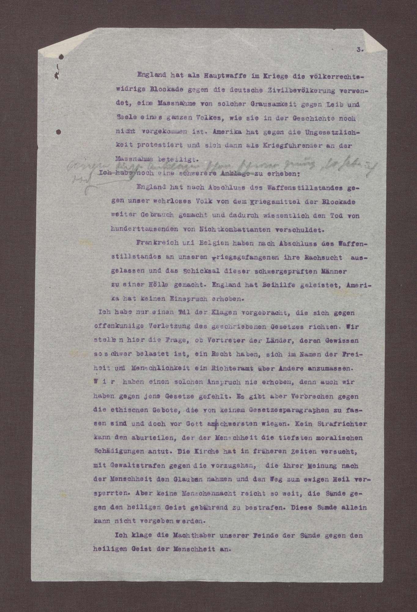 Entwurf eines Artikels für die Badische Landeszeitung über die 14 Punkte von Wilson als Grundlage eines Friedens mit Deutschland, Bild 2