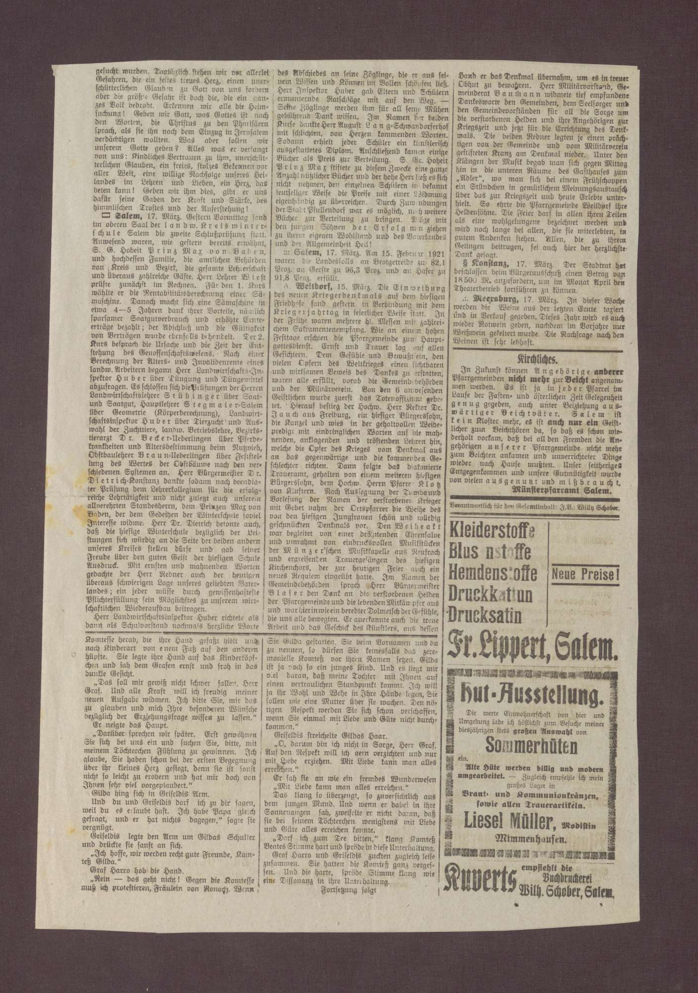 """Ausgabe vom """"Bote vom Salemertal"""", Bild 3"""