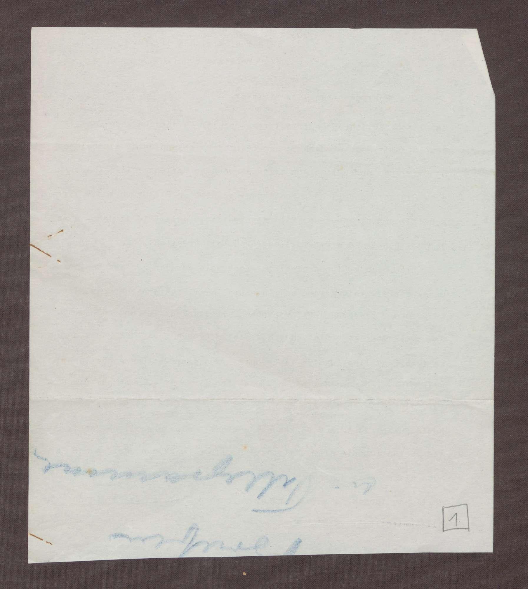 Schreiben an Ludwig Haas; Bedeutung der SPD für die Heidelberger Vereinigung, Bild 2