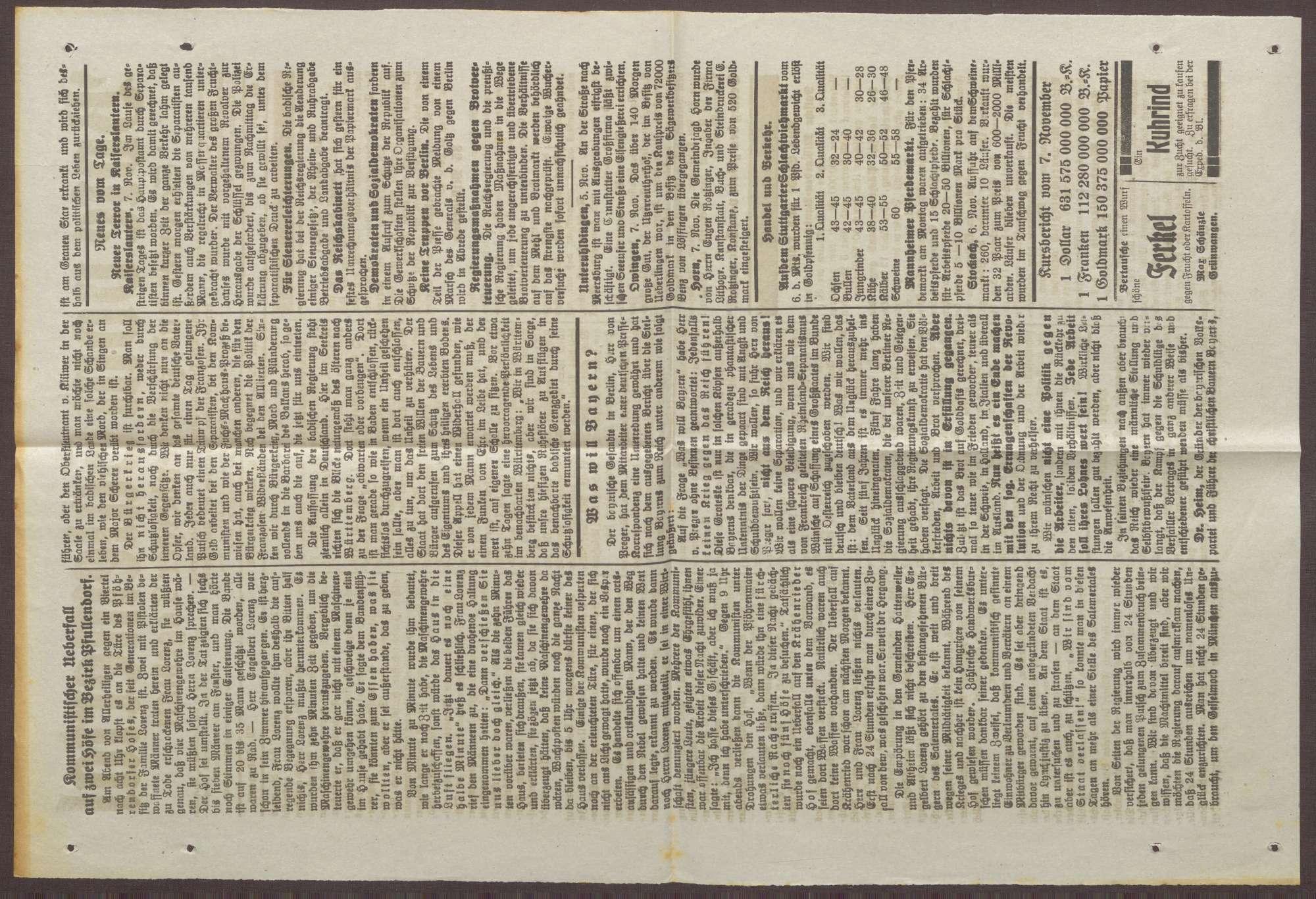 """Ausschnitt der Zeitung """"Bote vom Salemertal"""", Bild 2"""