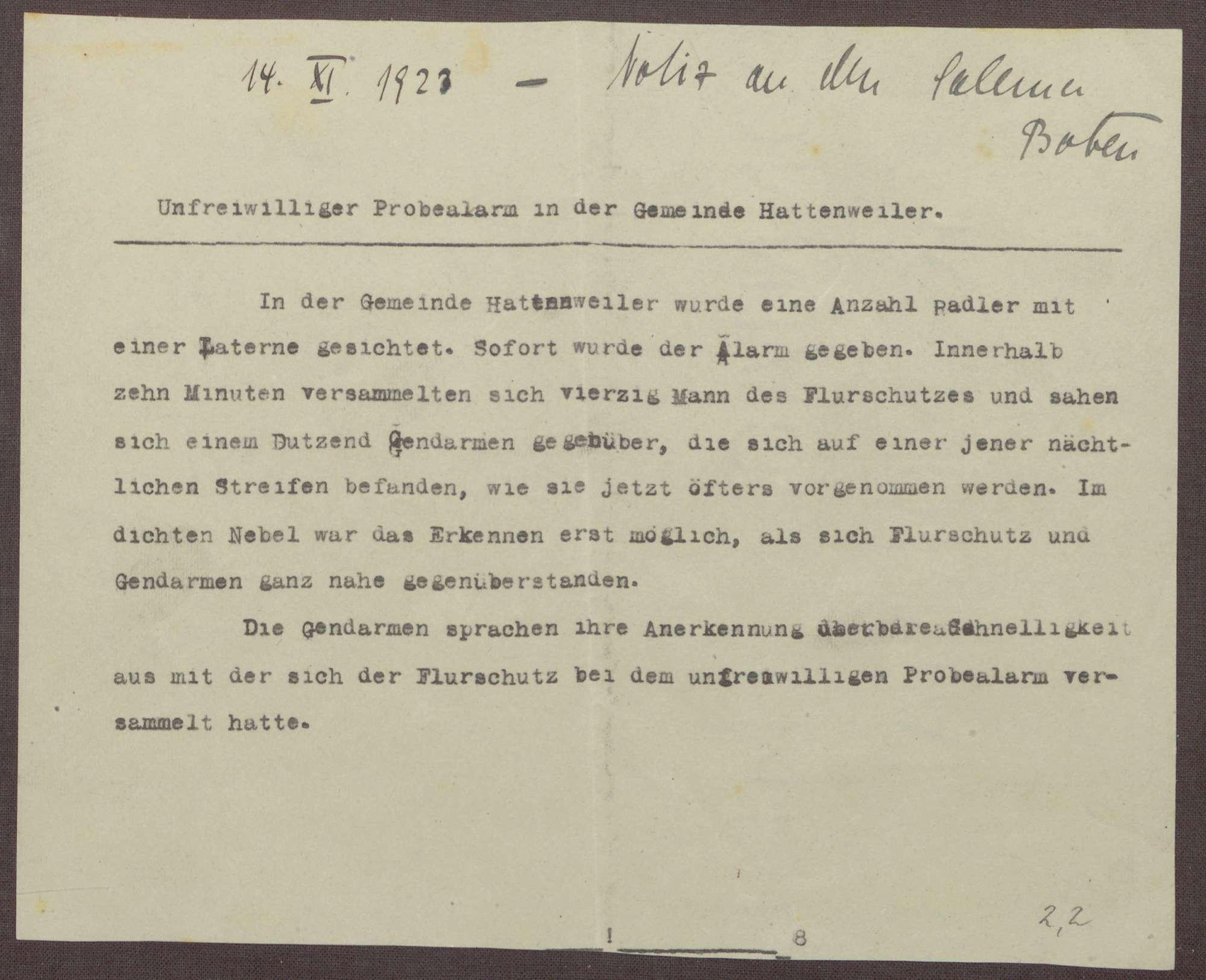 Notizen zu möglichen Tätern des kommunistischen Überfalls bei Pfullendorf und dem Flurschutz, Bild 3