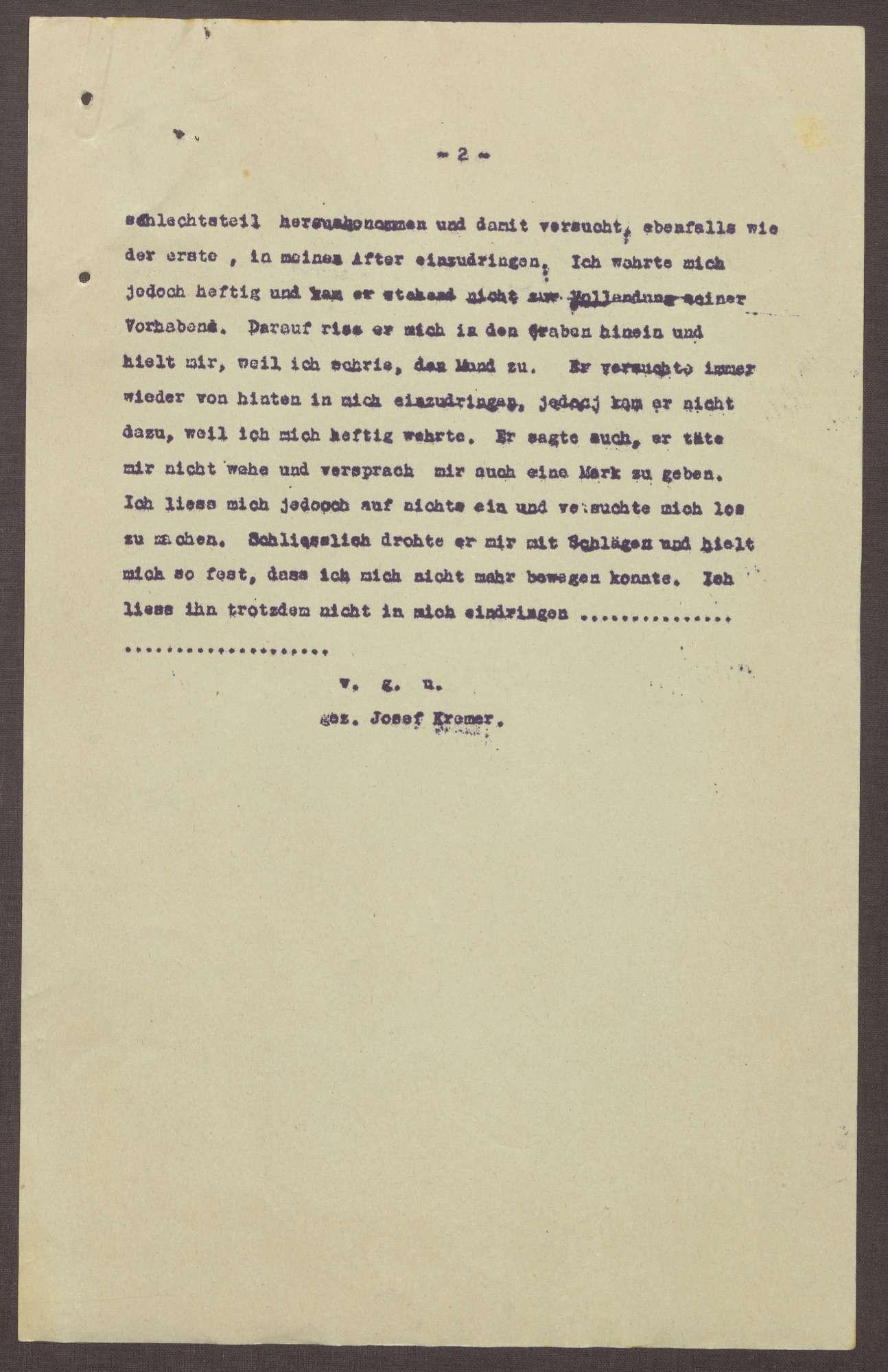 Polizeibericht über eine Vergewaltigung in Eschweiler, Bild 2